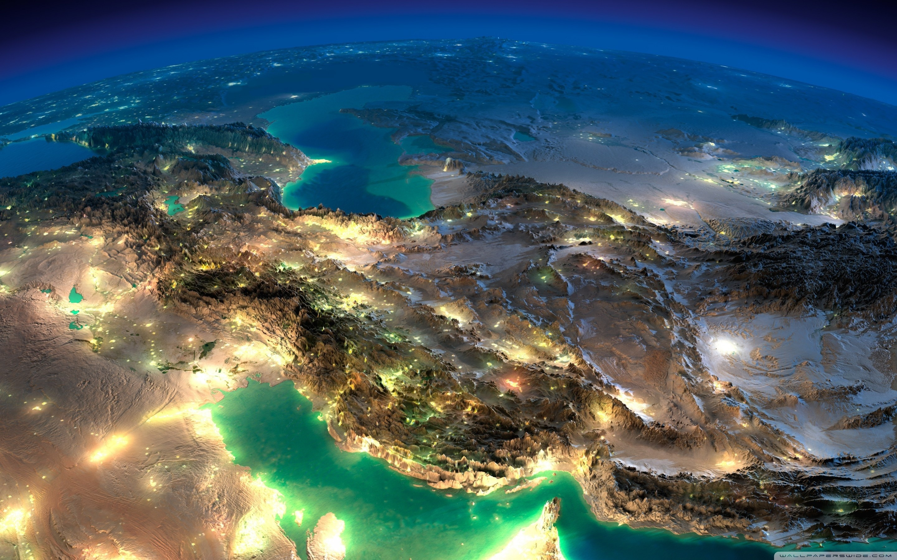 2880x1800 Very Nice Satellite Images Of Iran HD Wide Wallpaper for Widescreen