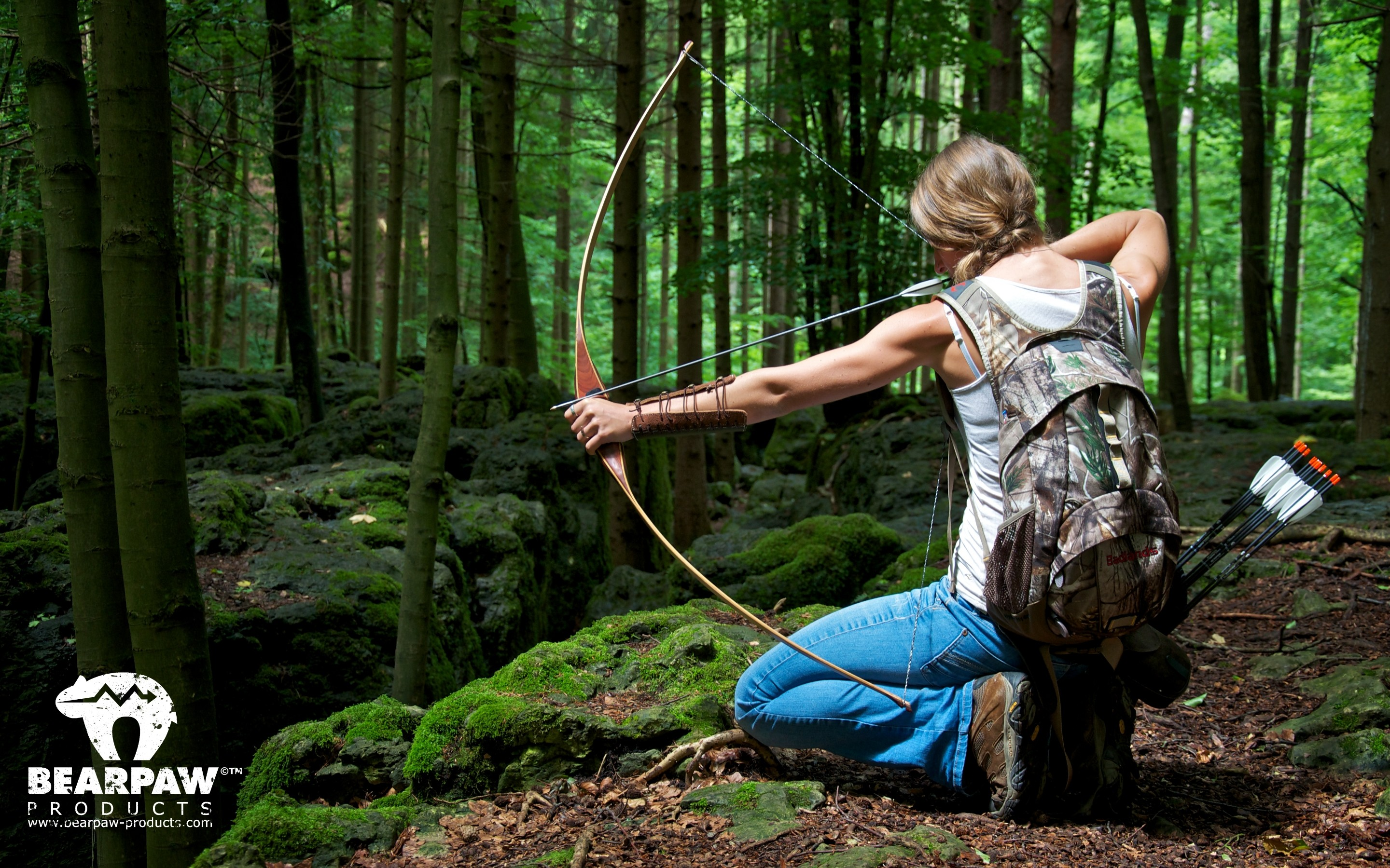 2880x1800 Archery Girl Outdoor Bearpaw Products Wallpaper .