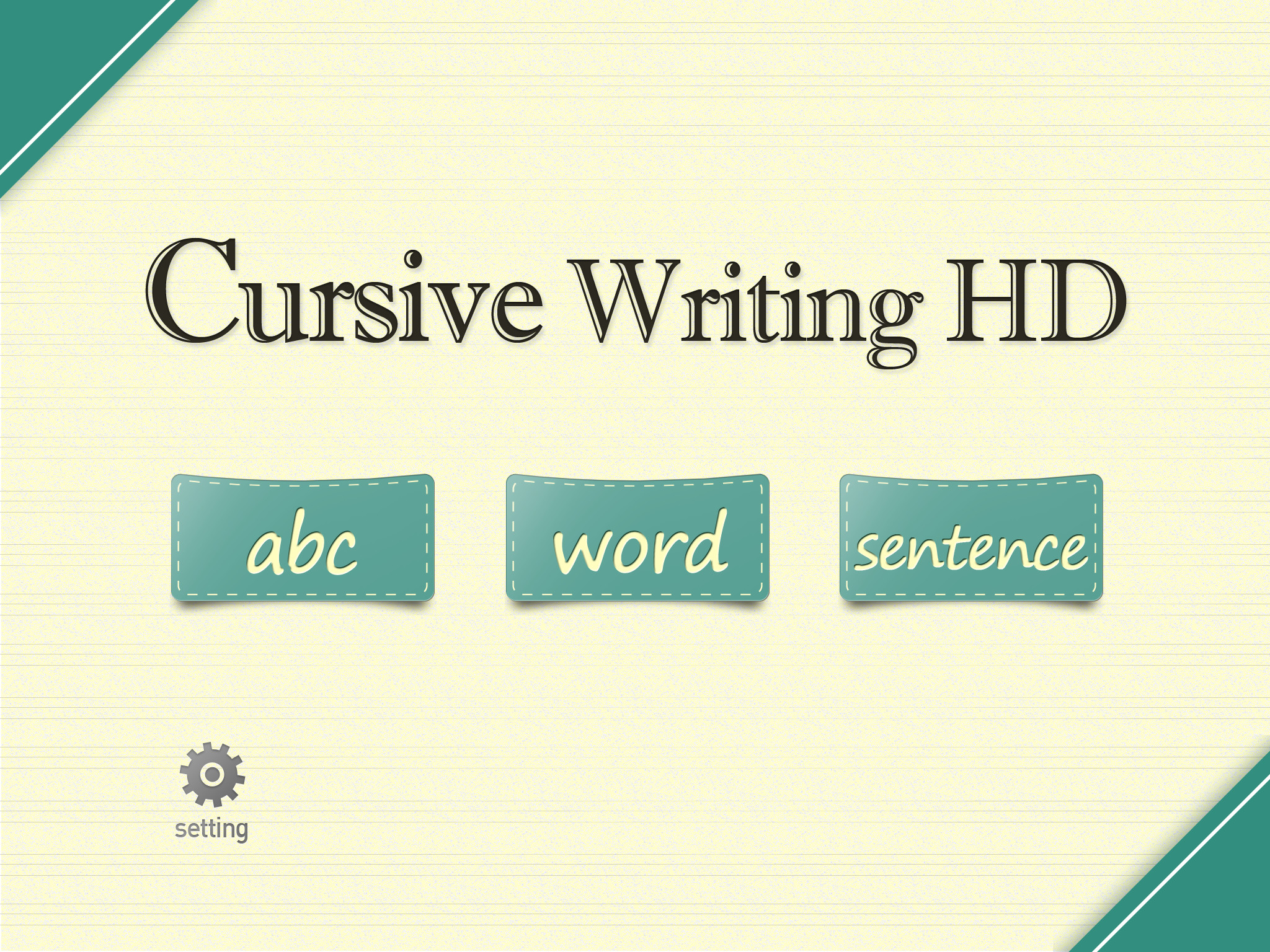 2048x1536 Good Free App of the Day #2: Cursive Writing HD