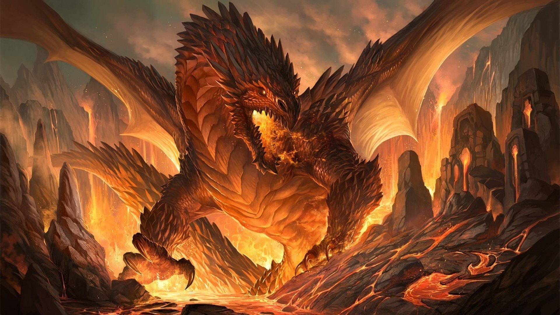 Dragons: Legends of the Skies 884931-fantasy-dragon-wallpaper-1920x1080-image