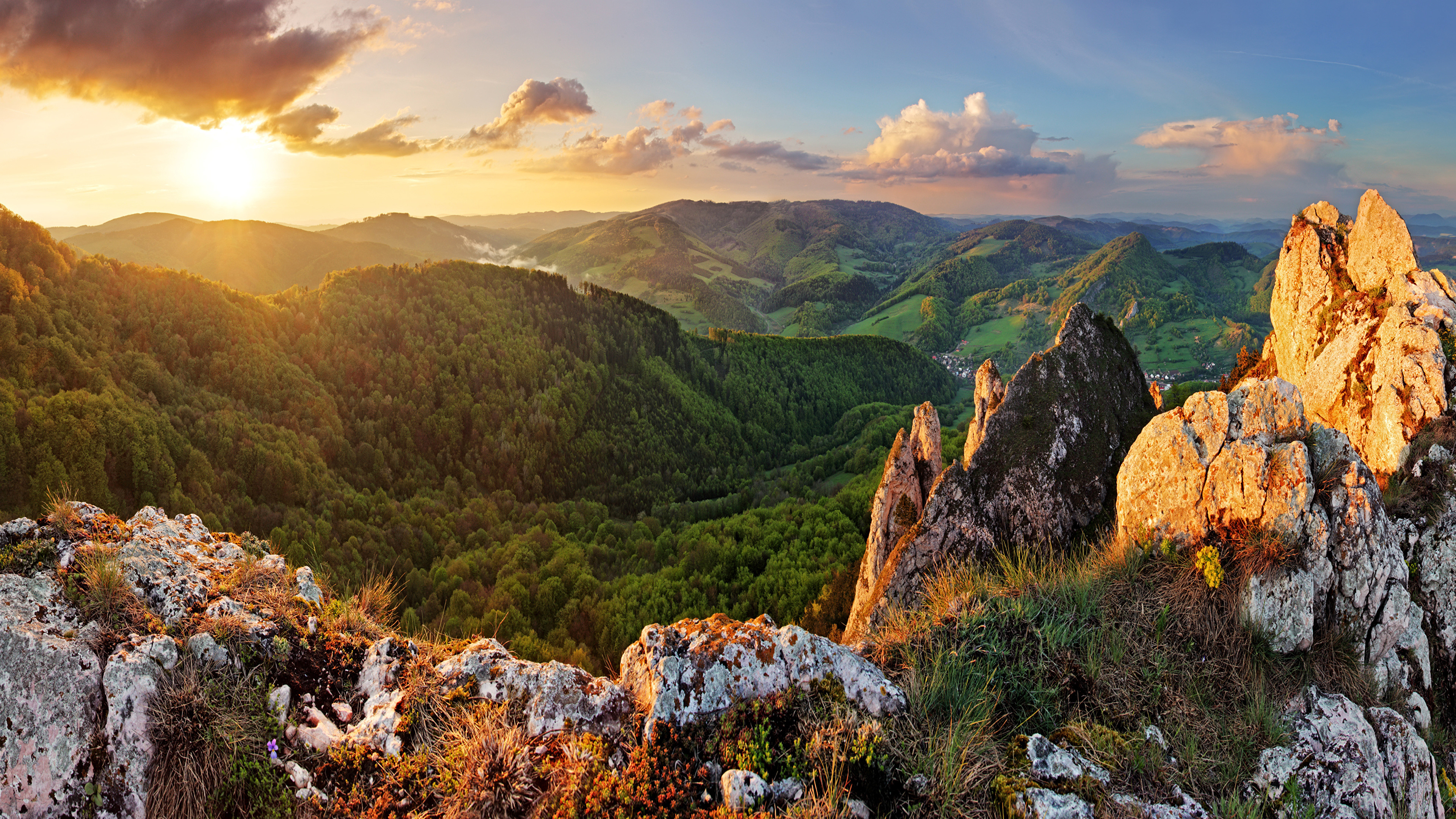 3840x2160 Wallpapers Slovakia Nature Mountains Scenery Forests Sunrises and sunsets   Landscape photography