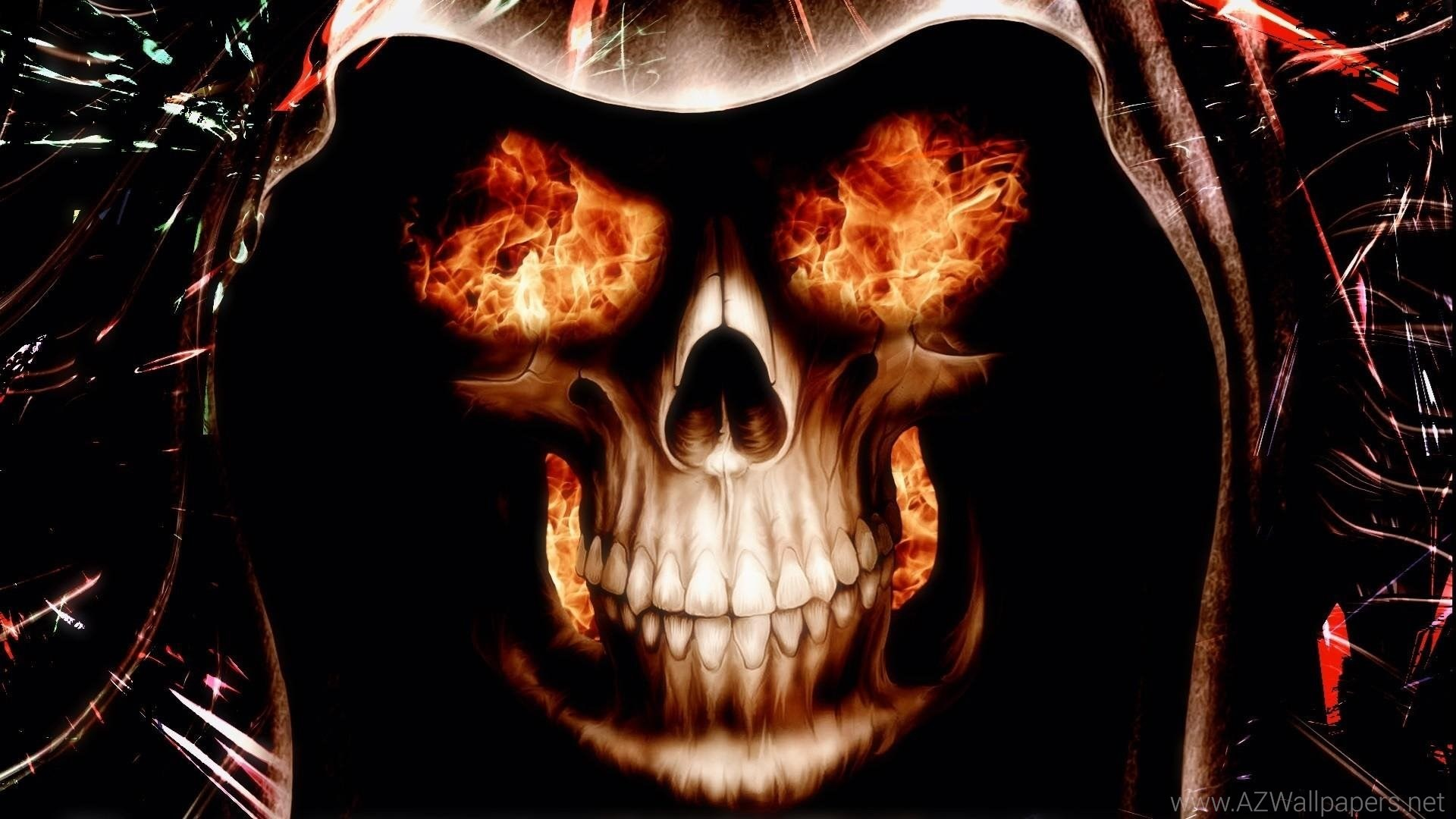 Red Flaming Skull Wallpaper (62+ Images