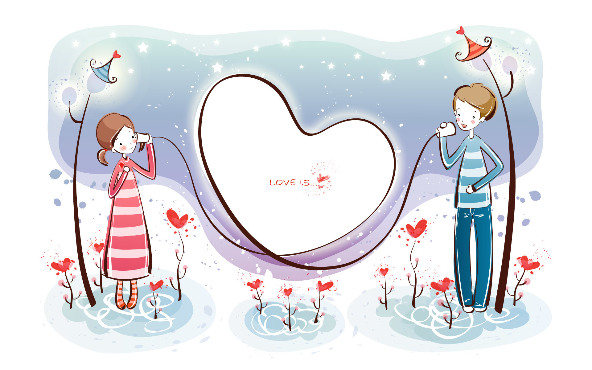 1920x1200 Wallpapers holiday valentine vector lovers ktqrj customizable cartoon couple