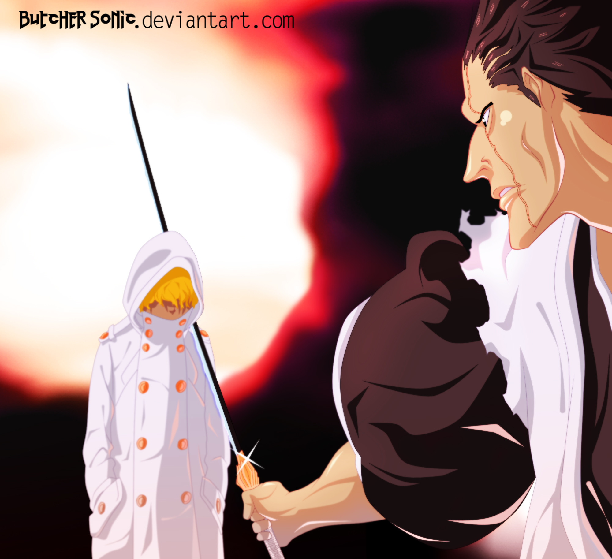 2000x1827 Bleach 573 p13 Zaraki by ButcherSonic