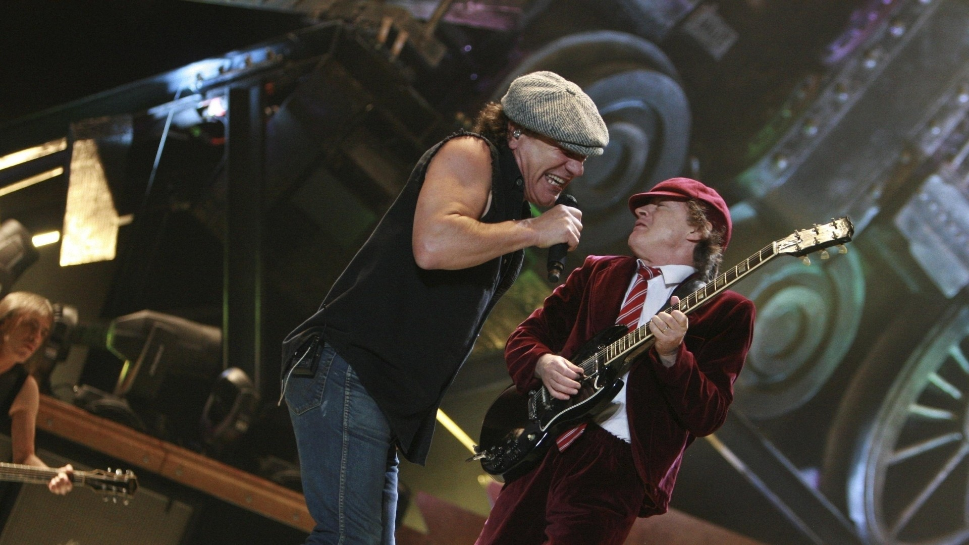 1920x1080  Wallpaper acdc, group, scene, solo, guitar-player