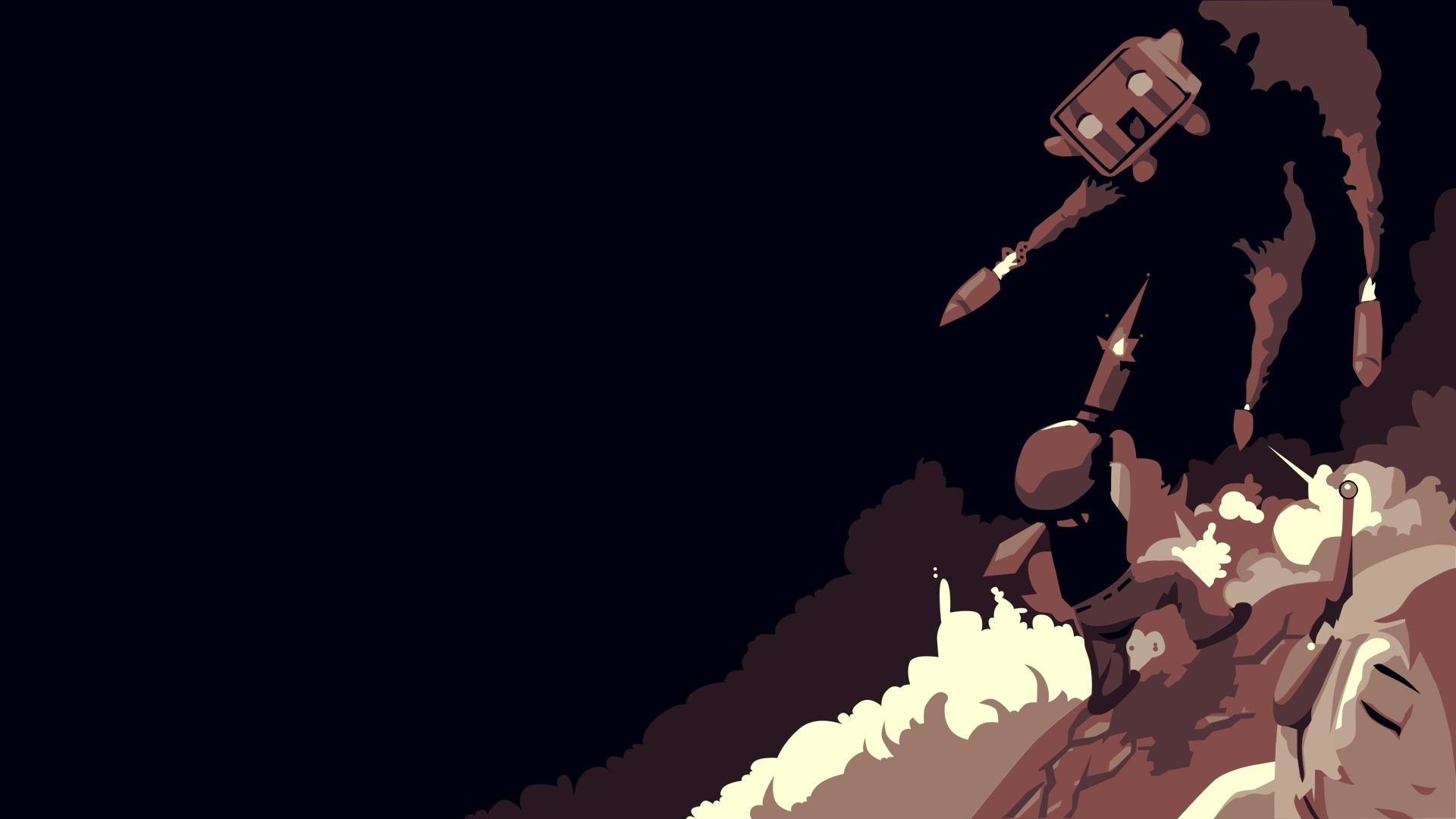 1920x1080  Wallpaper cave story, character, missiles, explosion, graphics