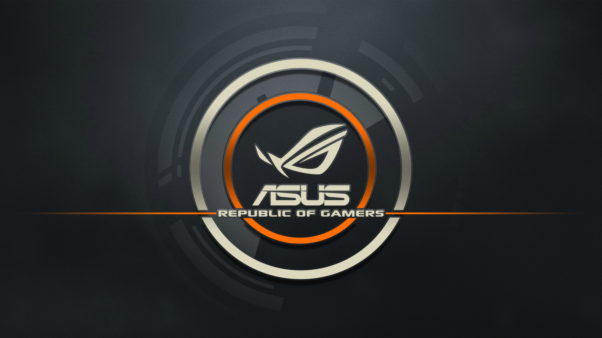 1920x1080 Preview wallpaper asus, logo, republic of gamers, computer