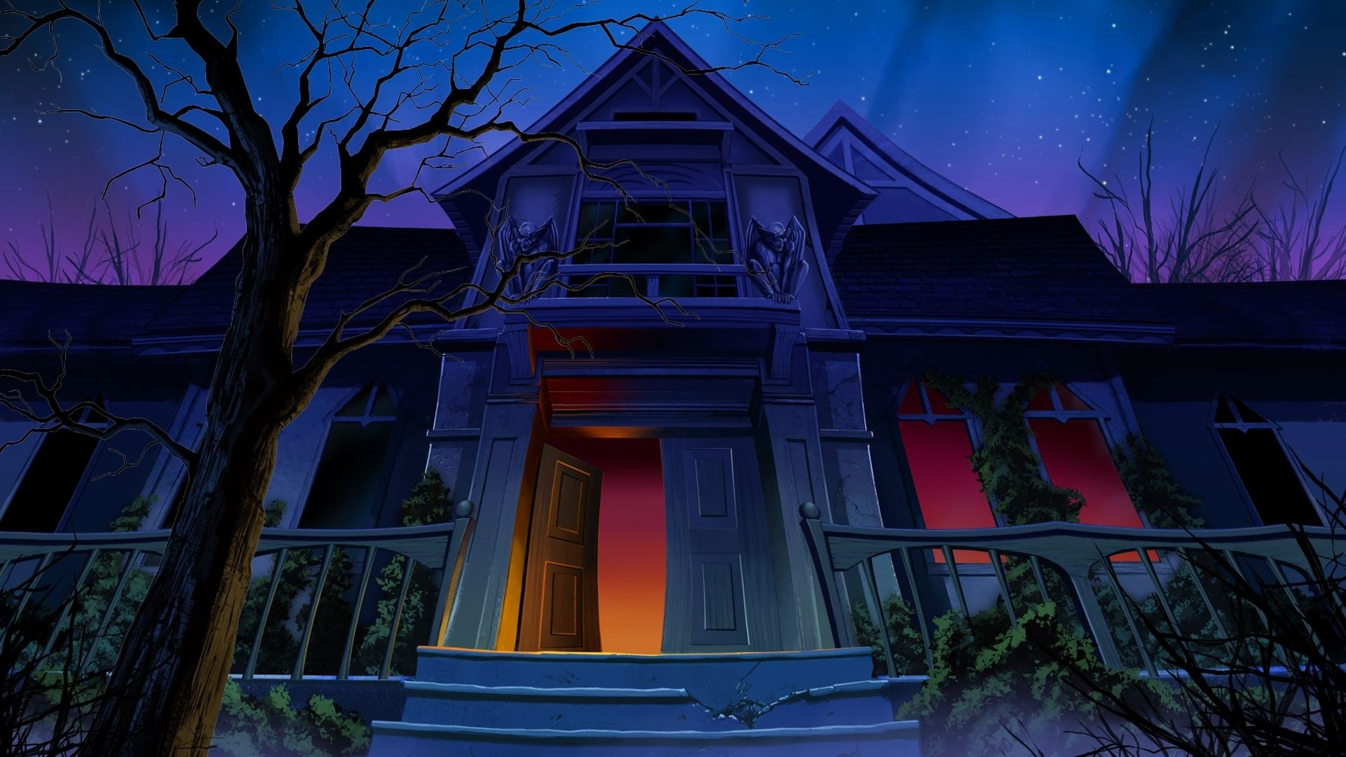 1920x1080 Night Haunted House Wllpper Download Free 1080p