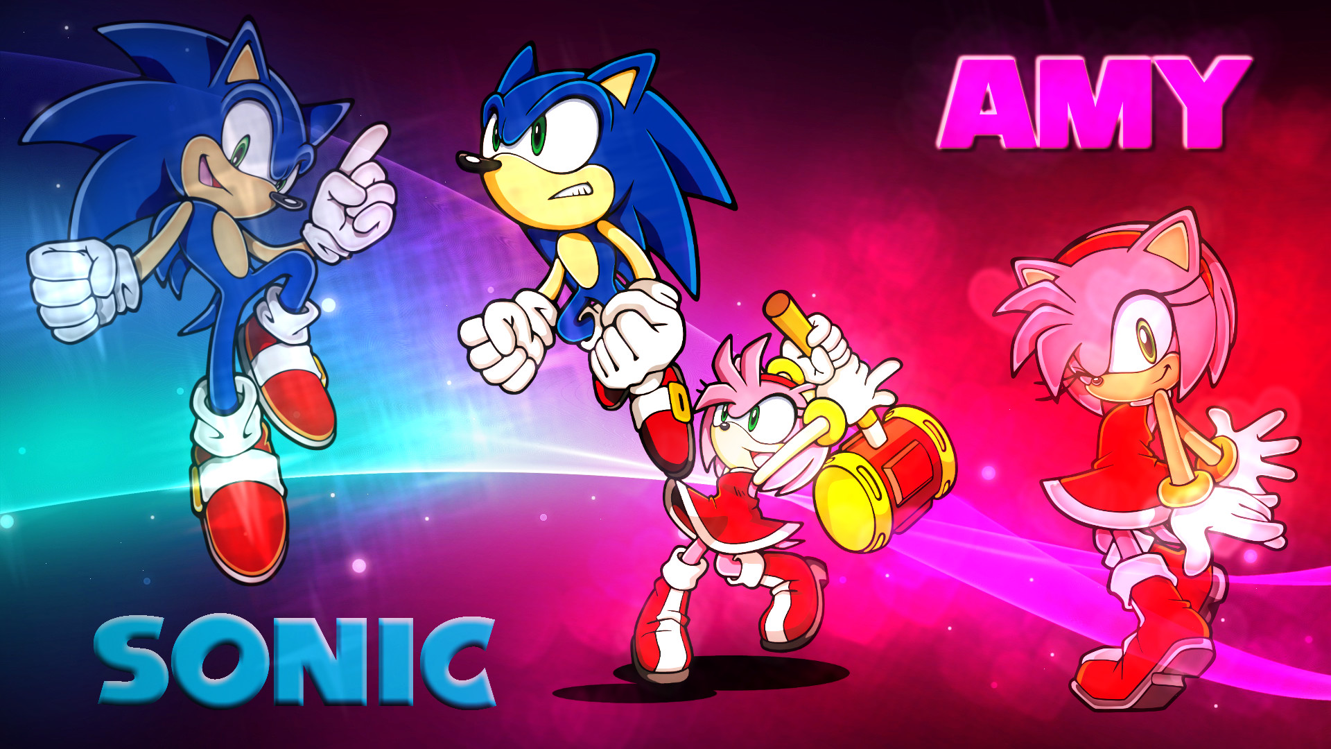 1920x1080 ... Wallpaper - Sonic and Amy (#1) by Haalyle