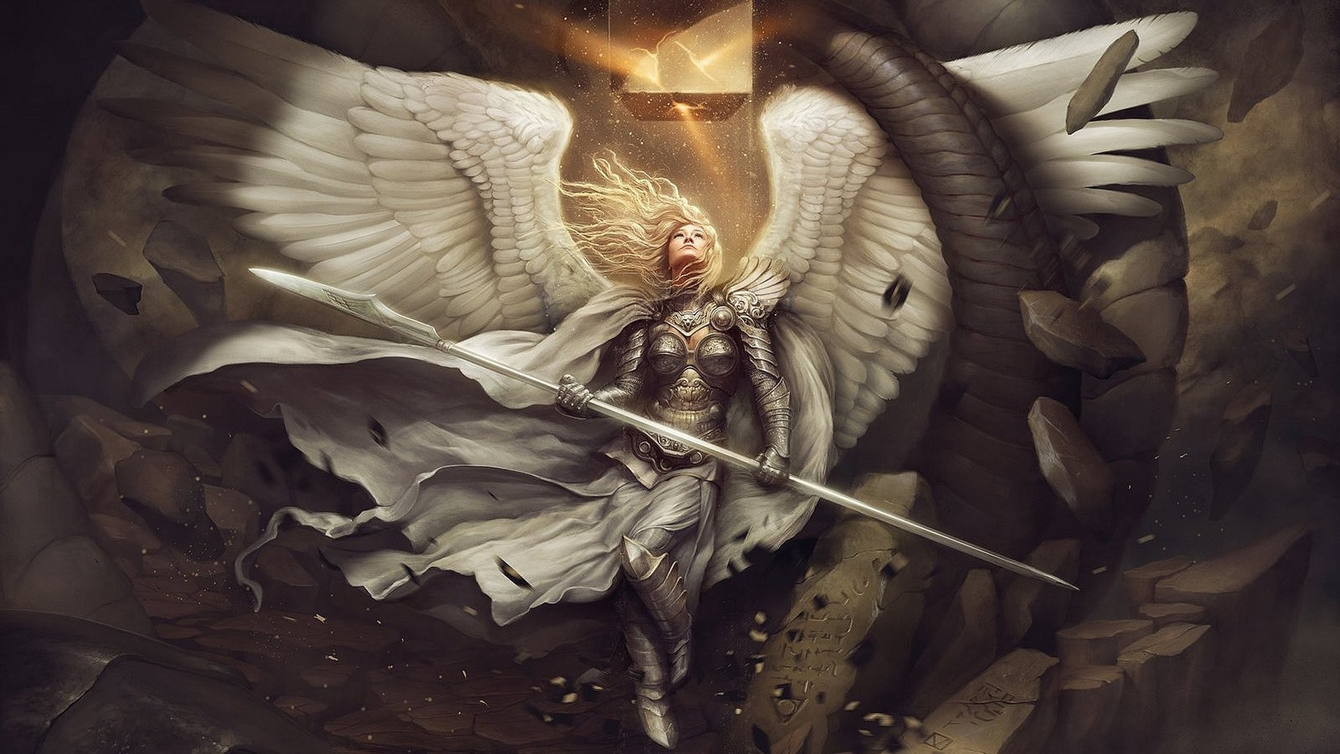 1920x1080 Angel Warrior Wing free iPhone or Android Full HD wallpaper.