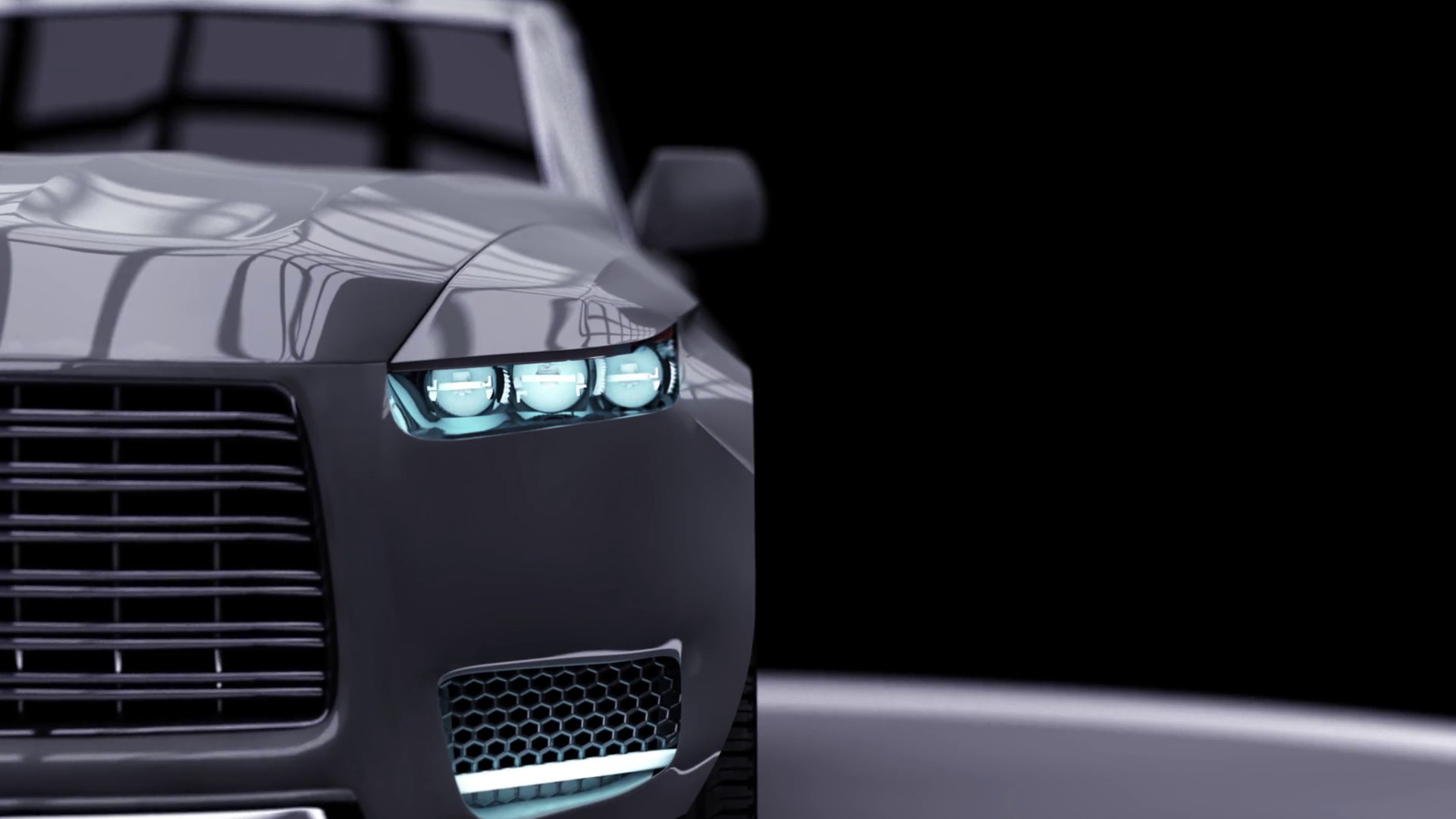 1920x1080 Modern car, 3D car animation on a black background the camera zooms Motion  Background - Storyblocks Video