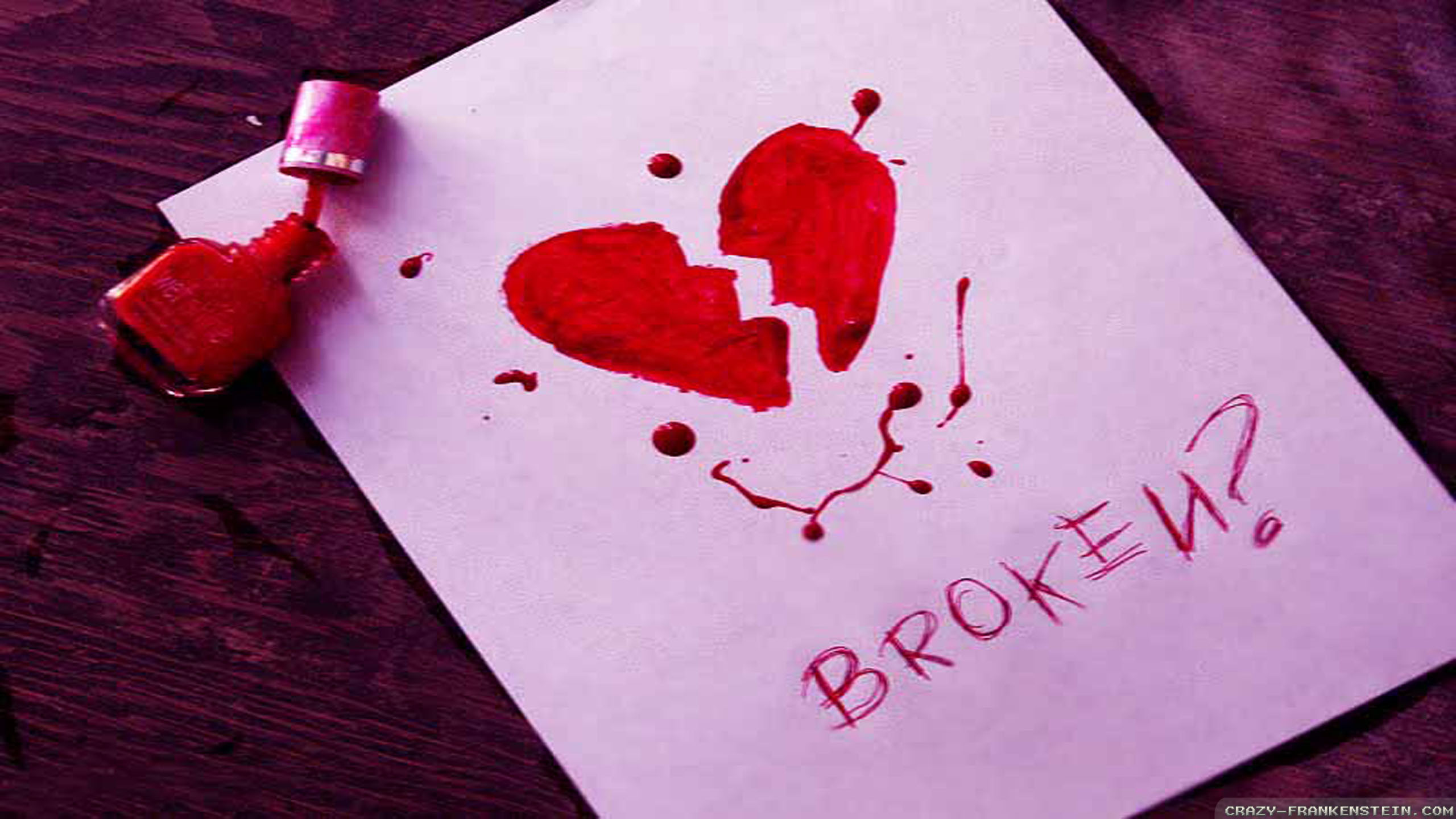 Cute broken heart background