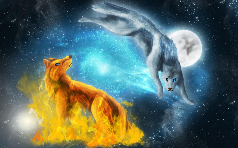 1306773 gorgerous blue flame wolf wallpaper