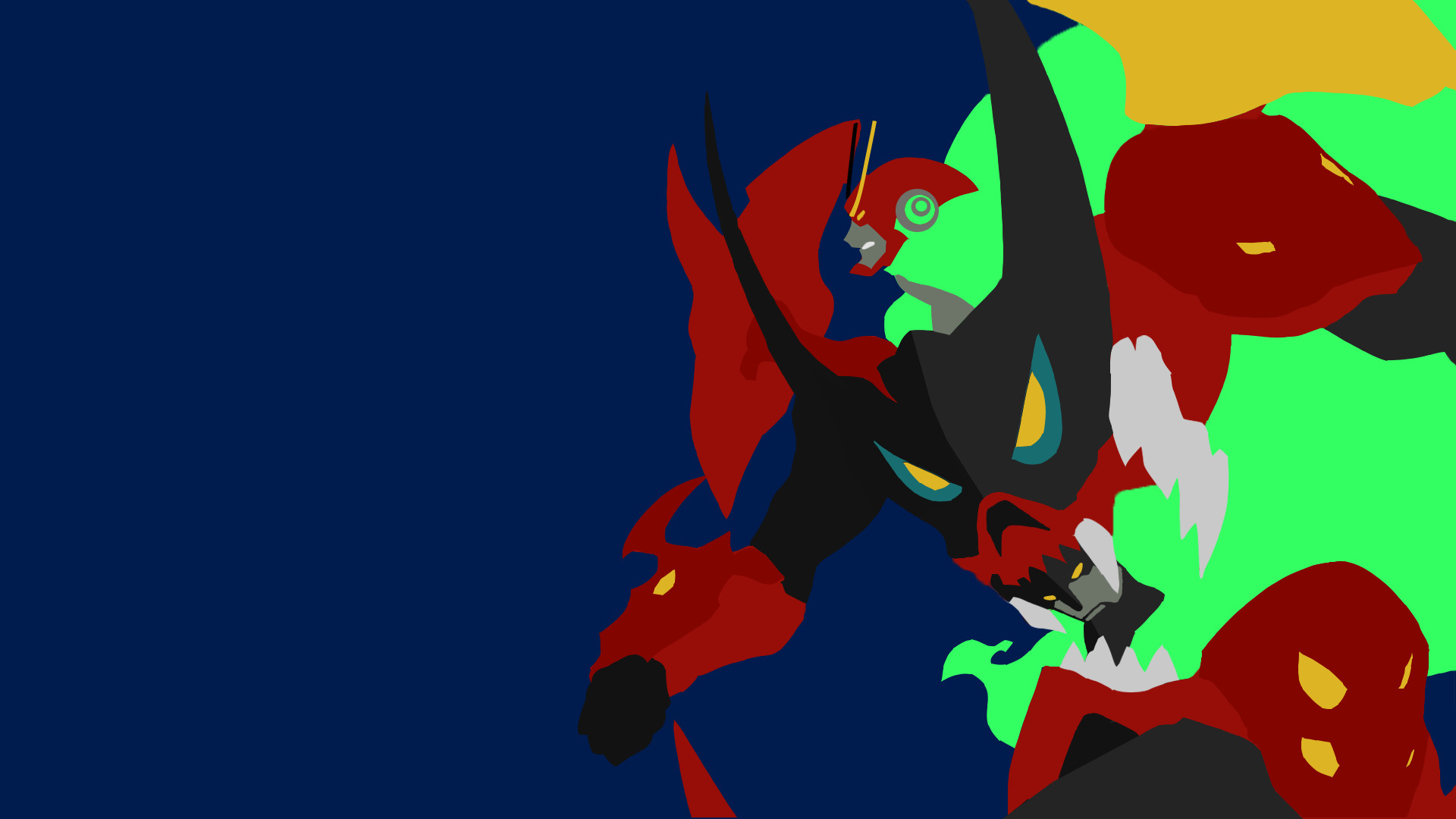 1920x1080 I tried my hand at a minimalist Tengen Toppa Gurren Lagann, what do you  guys think?