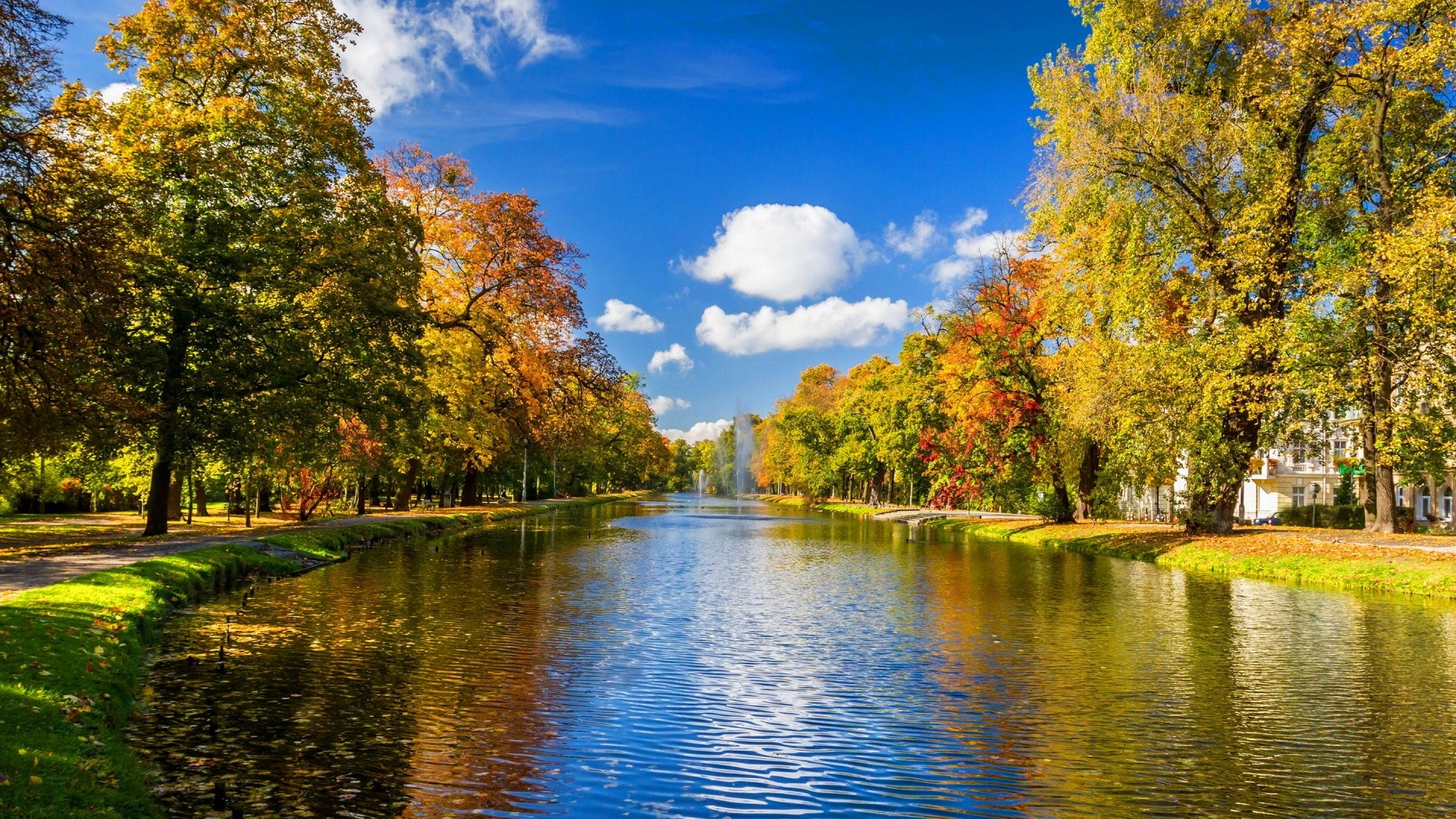 1920x1080 0  HD Autumn Wallpapers  River park autumn Wallpaper