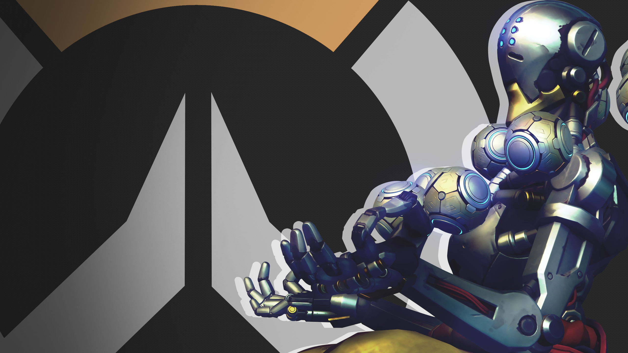 2560x1440 ... Overwatch Side Profile Wallpaper - Zenyatta by PT-Desu