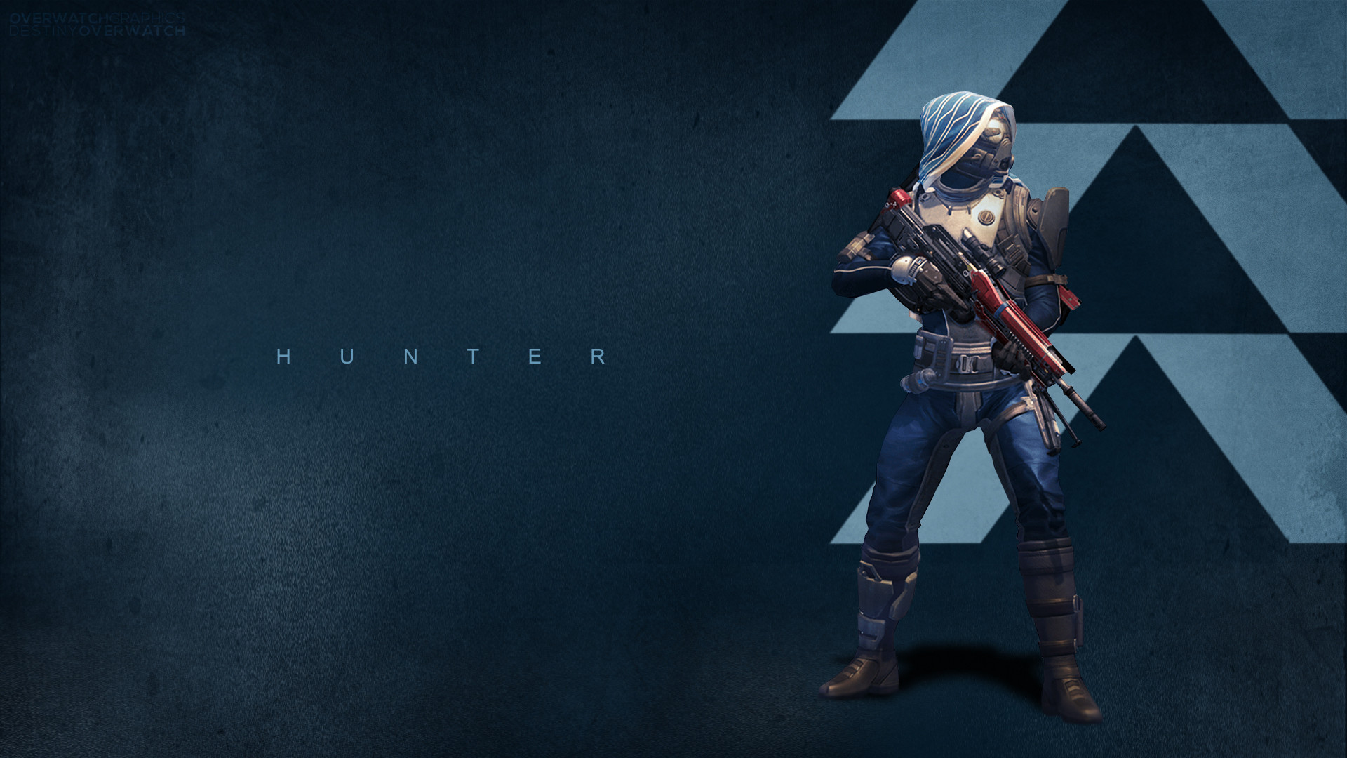 1920x1080 DeviantArt: More Like Destiny - Hunter Wallpaper by OverwatchGraphics