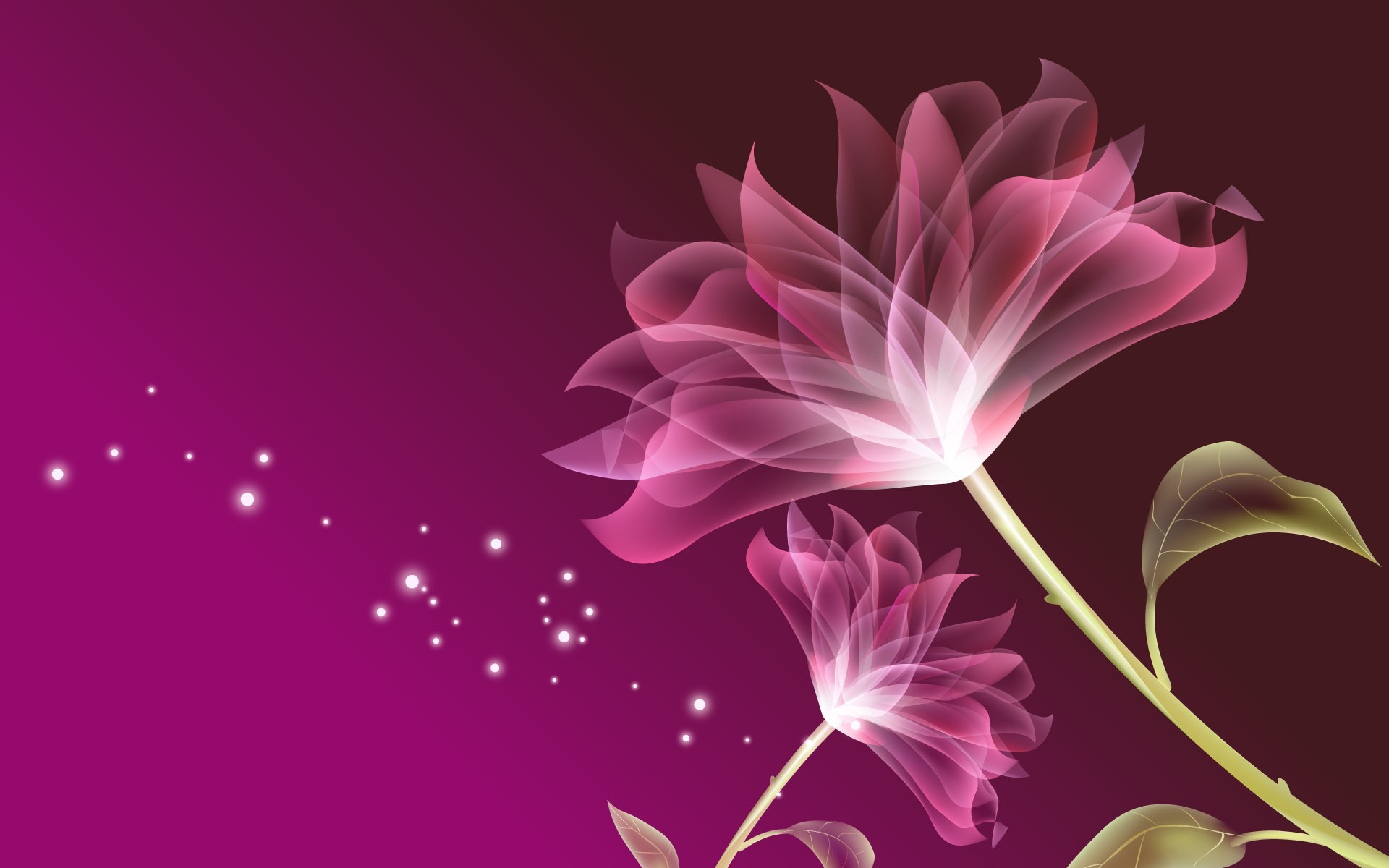 1920x1200  3D Pink Flowers Background Wallpaper  - Cool PC  Wallpapers