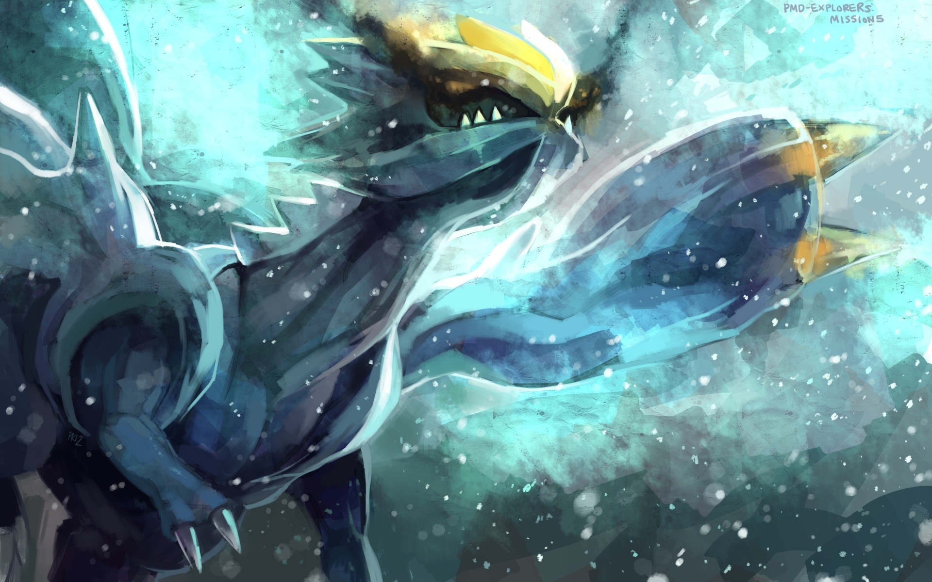 1920x1200 Pokemon dragon kyurem purple kecleon wings yellow eyes wallpaper .