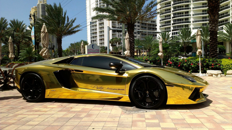 Elegant 3000x1691 First Gold Plated Lamborghini Aventador LP700 4 Better Only  Lamborghini Veneno,Lamborghini Egoista