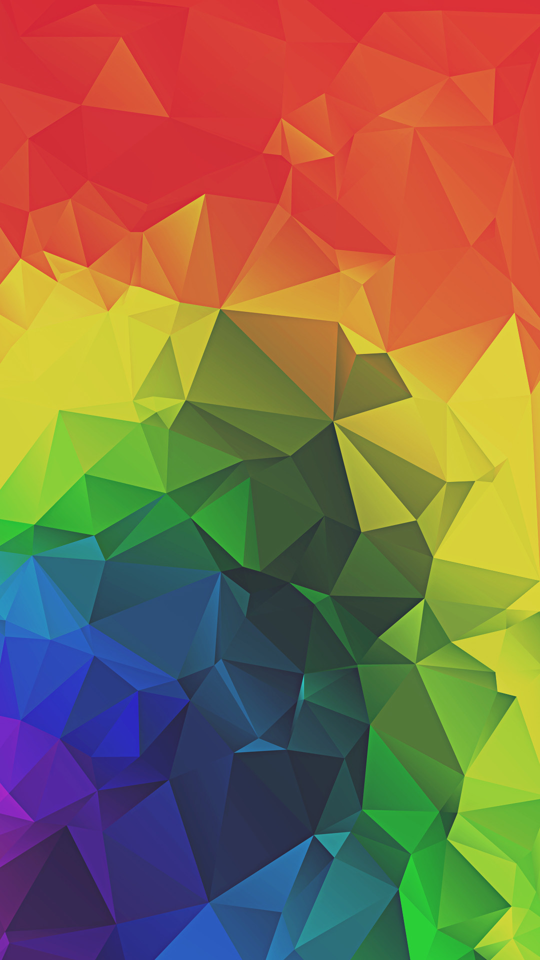 1080x1920 Rainbow Triangles Abstract iPhone 6+ HD Wallpaper