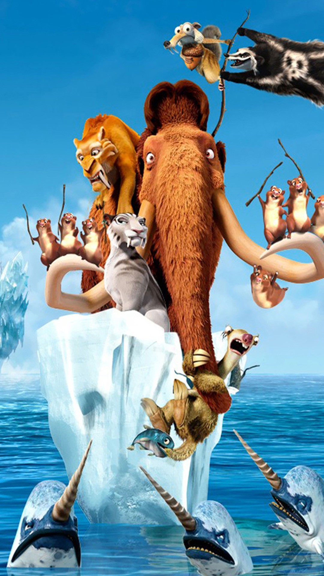 1080x1920 Ice Age 4 Continental Drift Movie Xperia Z2 Wallpapers
