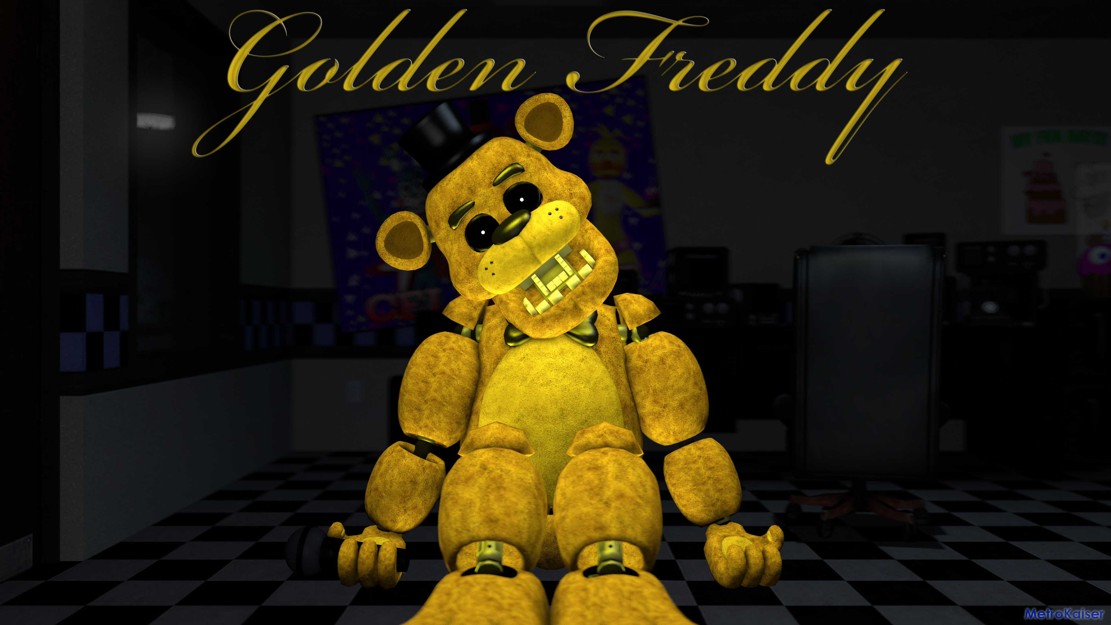 3840x2160 ... FNAF] Golden Freddy wallpaper (4K) by wstmetro