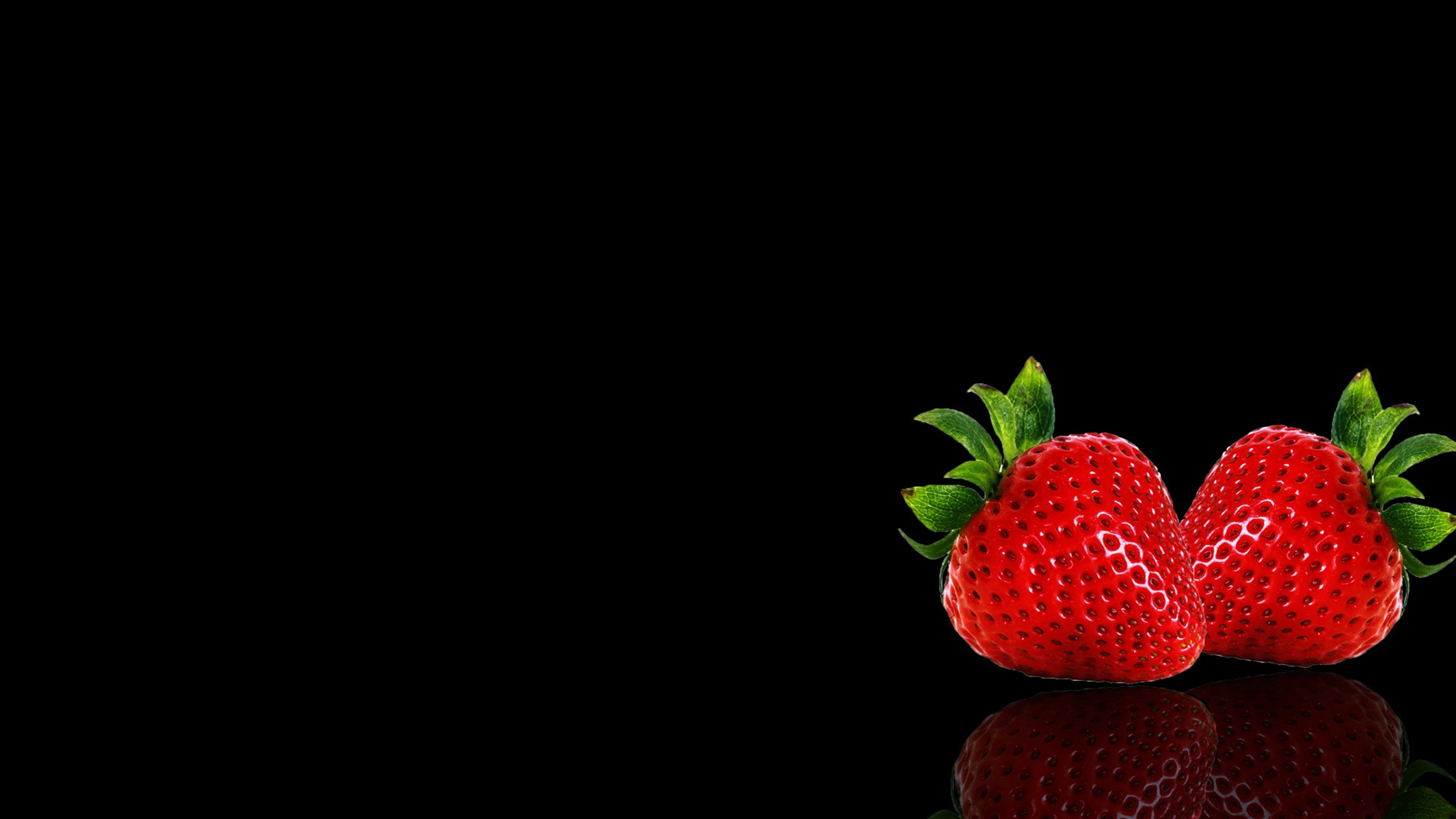 3840x2160 Apple background black fruits wallpapers Strawberry wallpaper |  |  655970 | WallpaperUP