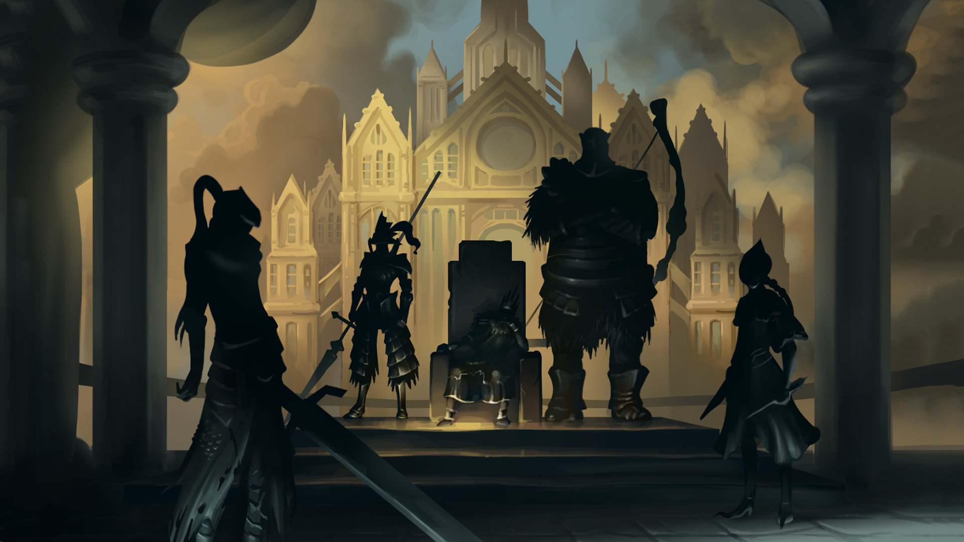 1920x1080 Dark Souls Ornstein Background Is Cool Wallpapers