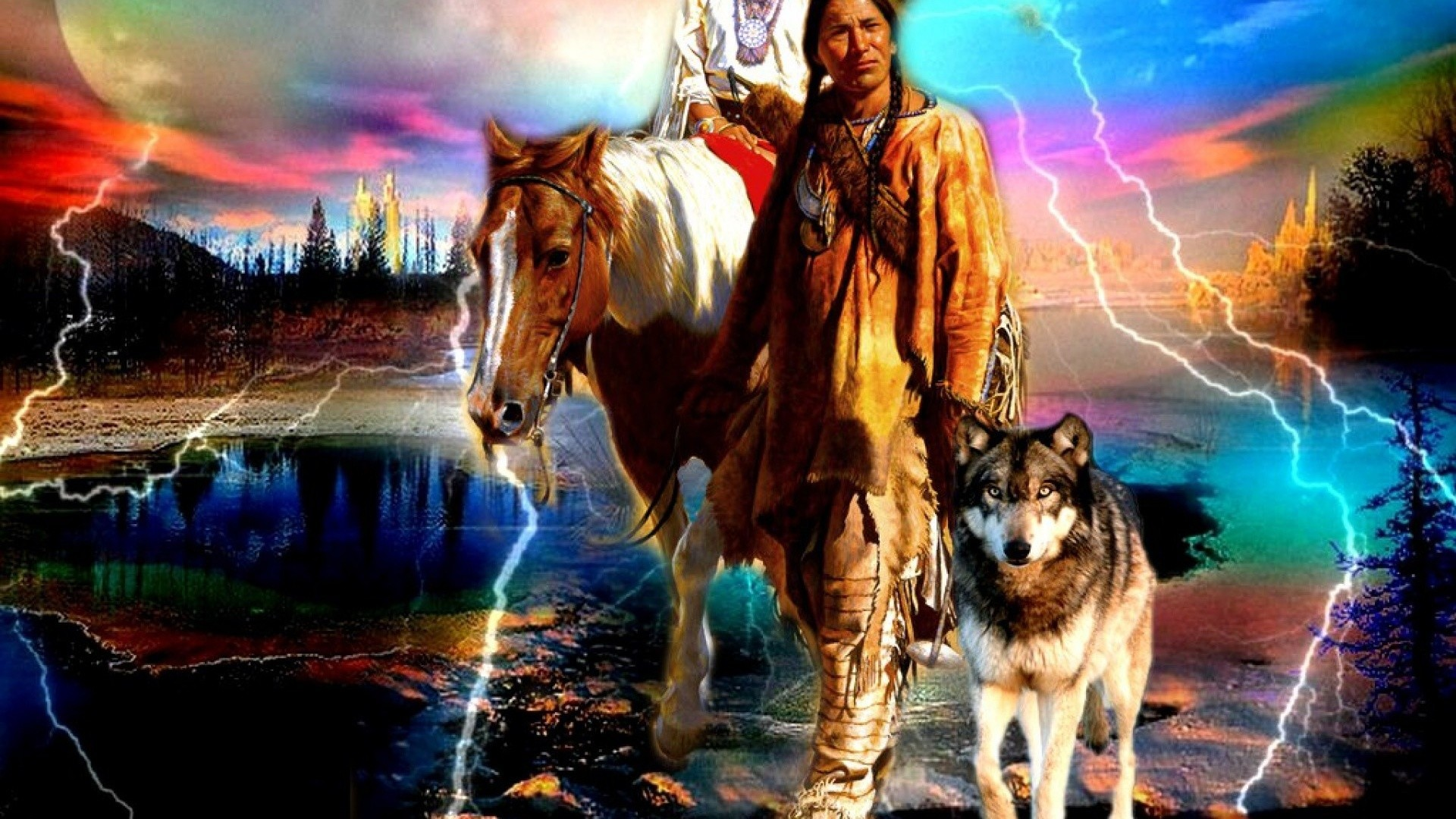 Native American Wolf Wallpaper (67+ images)