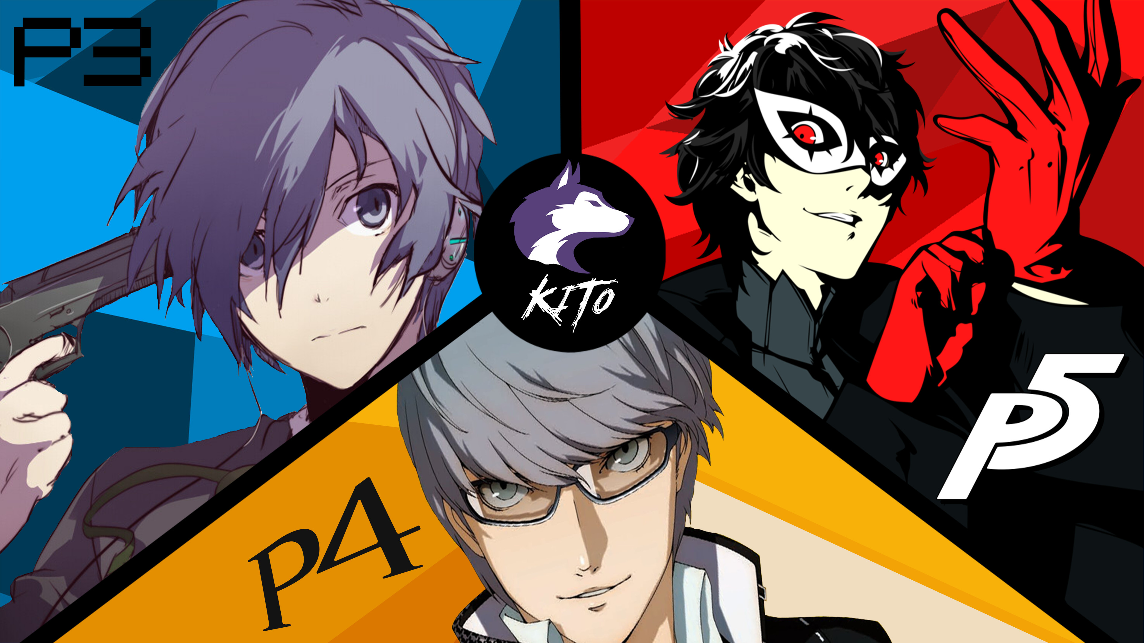 3794x2133 Persona 3, 4 and 5 Wallpaper