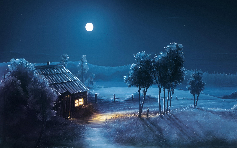 2560x1600 Frozen Moon Desktop Full HD Wallpapers