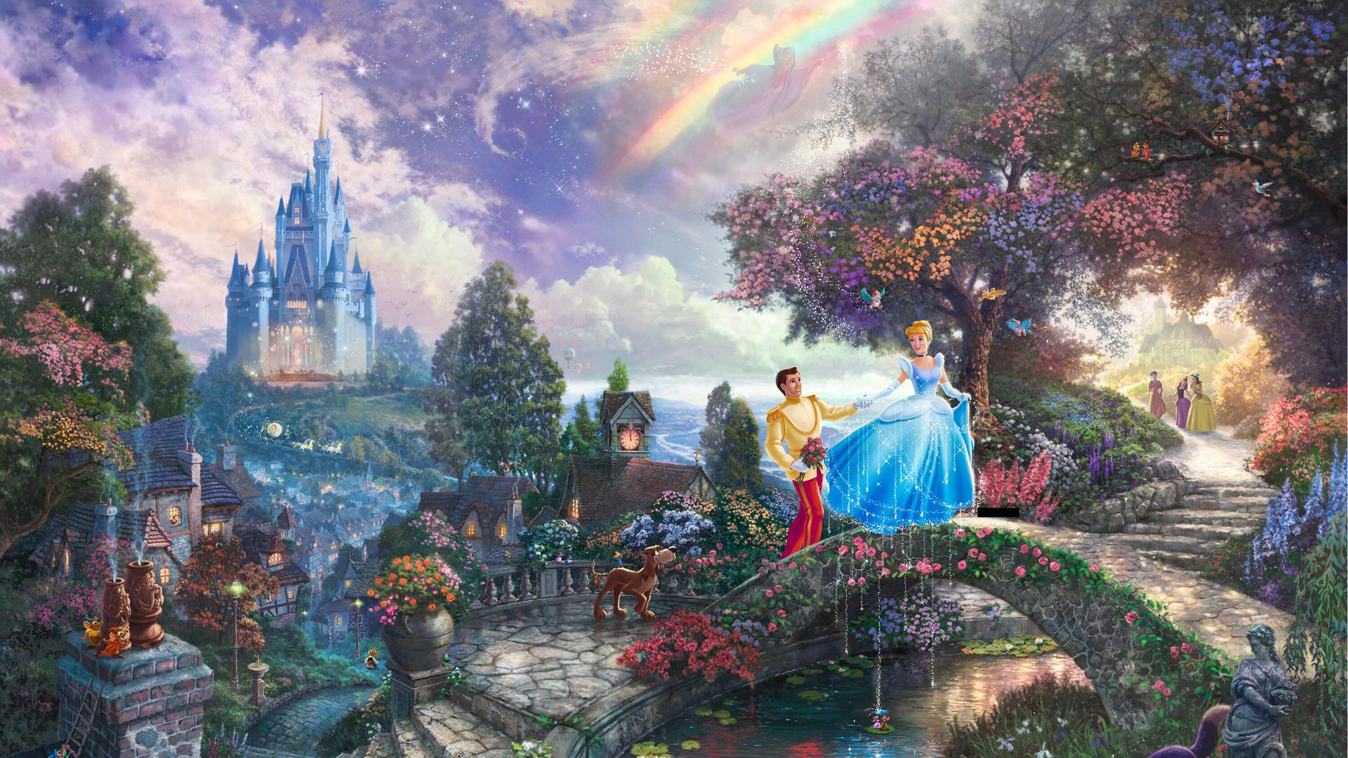 1920x1080 Thomas Kinkade Disney wallpaper 148360