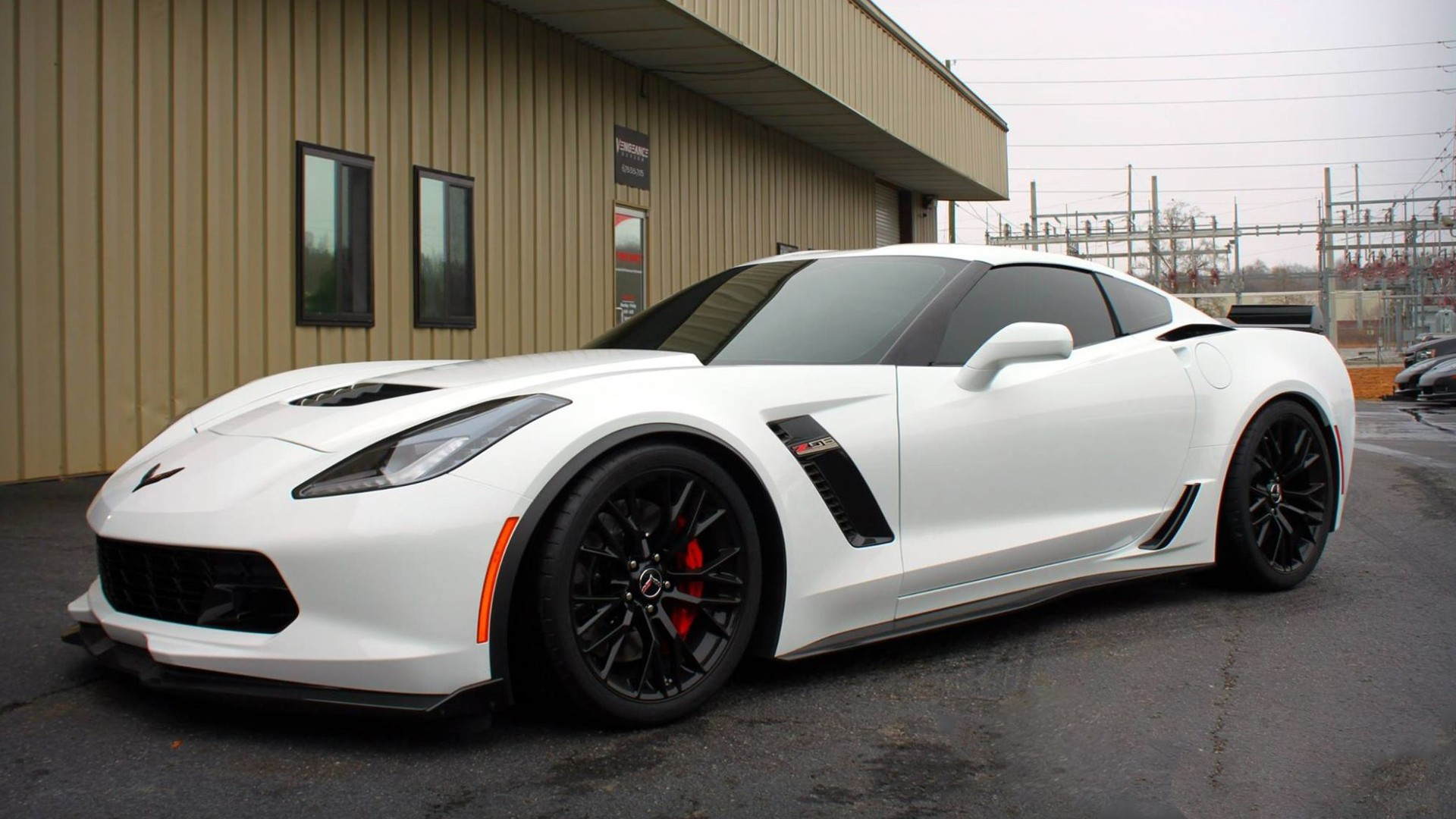 1920x1080 Corvette C7 Z06, Car, Vehicle, White Cars Wallpapers HD / Desktop and  Mobile Backgrounds