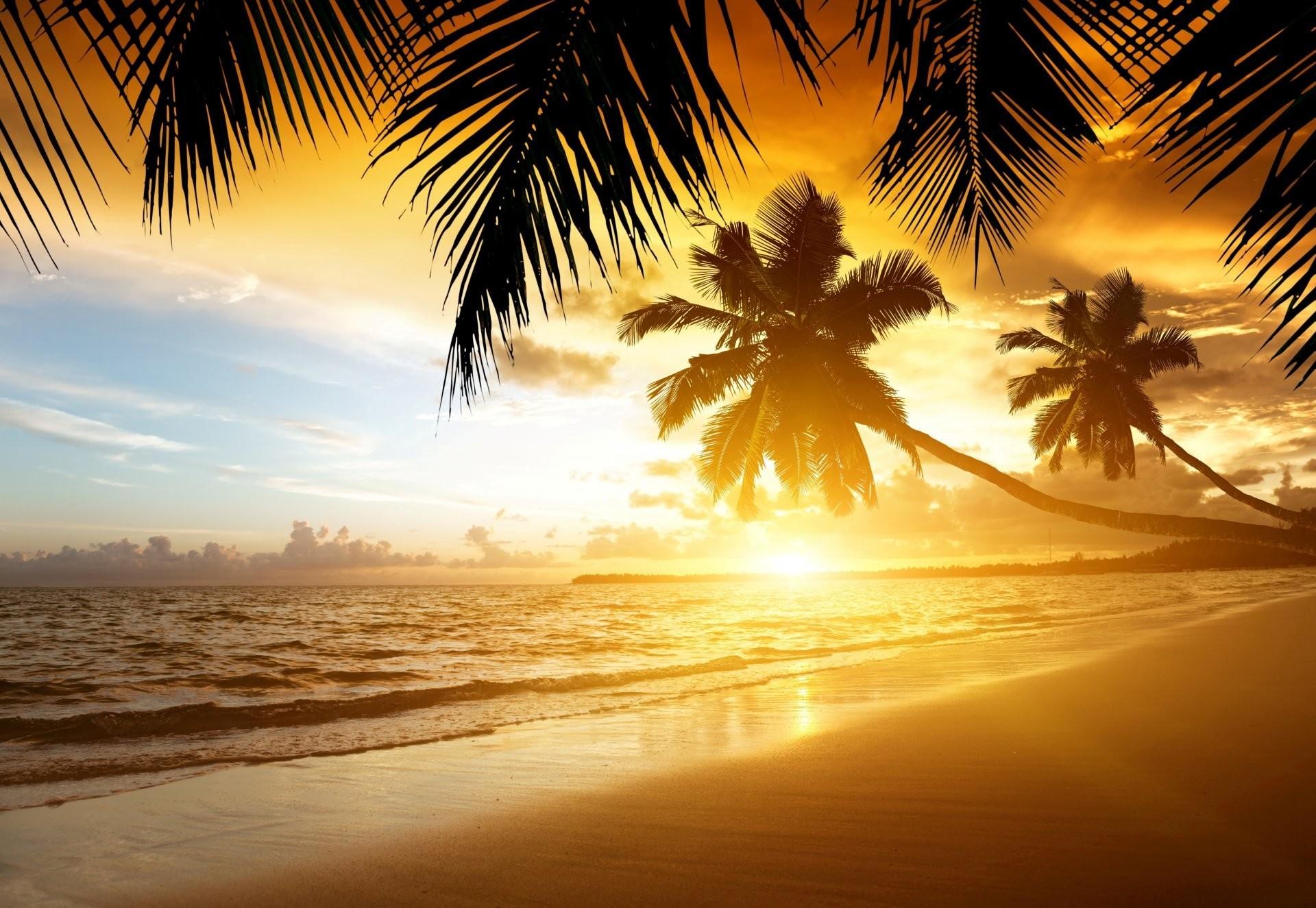 Tropical Island Beach Ocean Sunset: Tropical Island Sunset Wallpaper (58+ Images