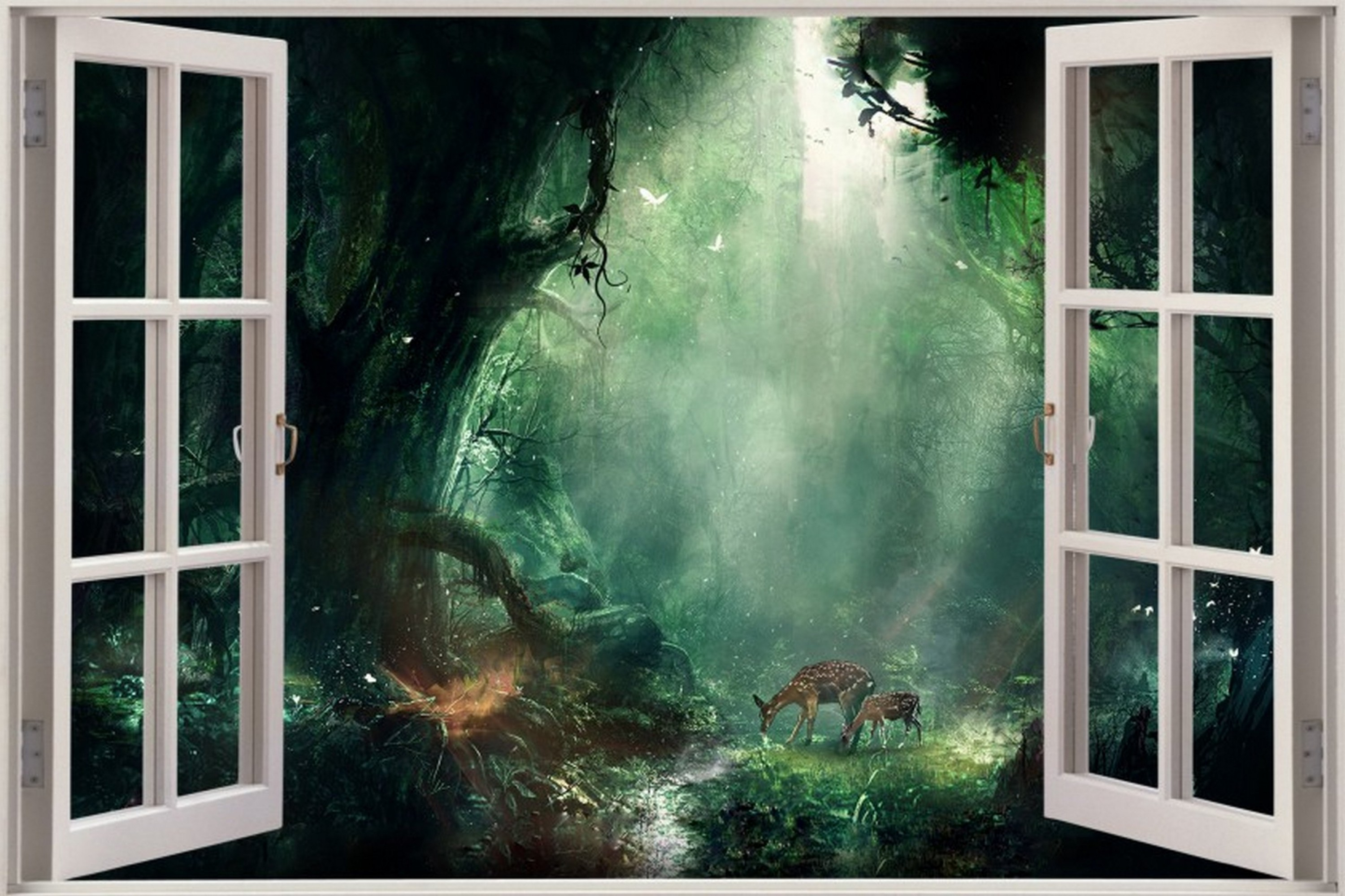 3000x2000 Forest Room Wallpaper Hd Images Desktop Window Poster Fantasy Cubicle Ideas  For Laptop | MKUMODELS