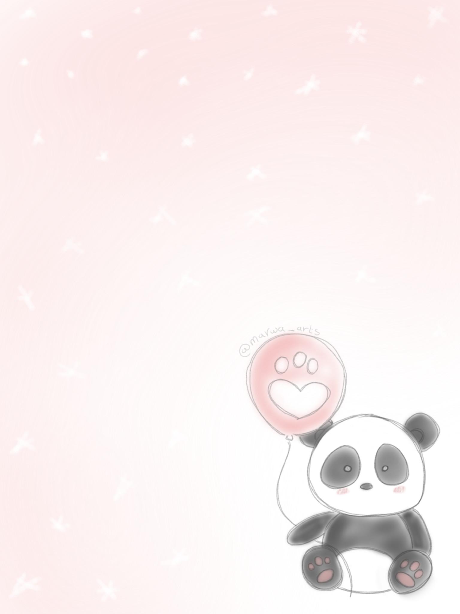 Rose Gold Panda Anime Wallpaper Cute Panda