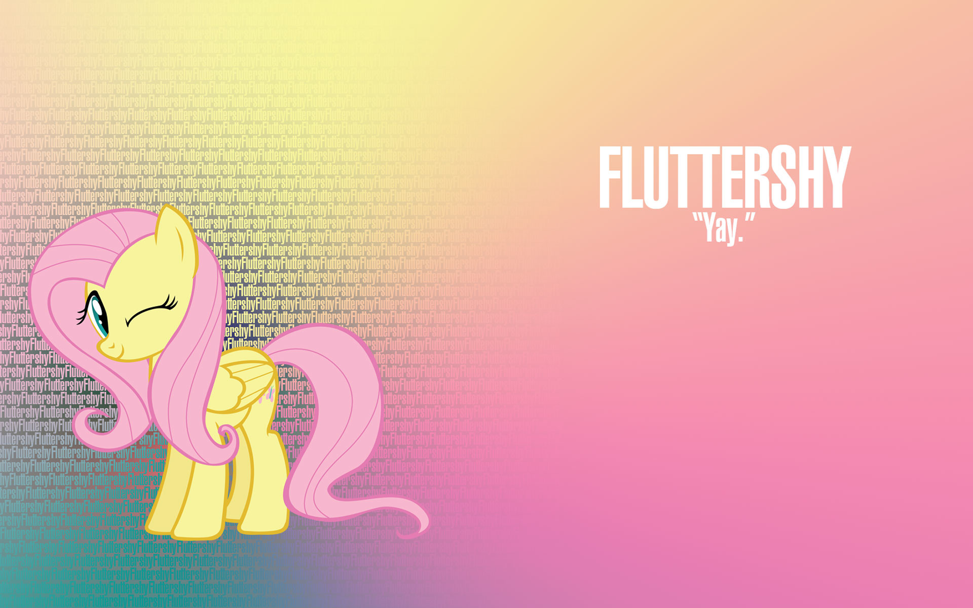 1920x1200 Imagen - Fluttershy my little pony wallpaper.jpg - My Little Pony: La .