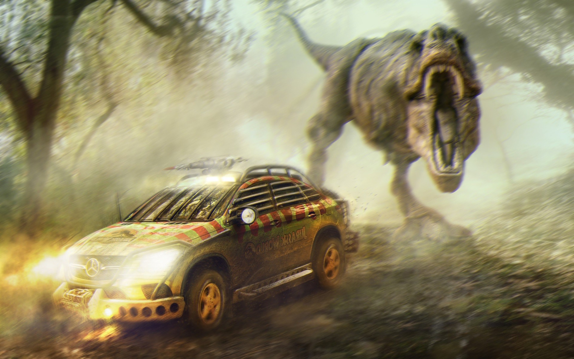 Jurassic World Wallpapers on jurassic world mercedes coupe