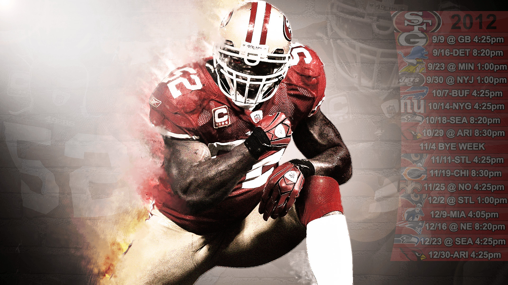 1920x1080 Get ready for the season by downloading the new 49ers schedule wallpapers for your desktop or mobile.