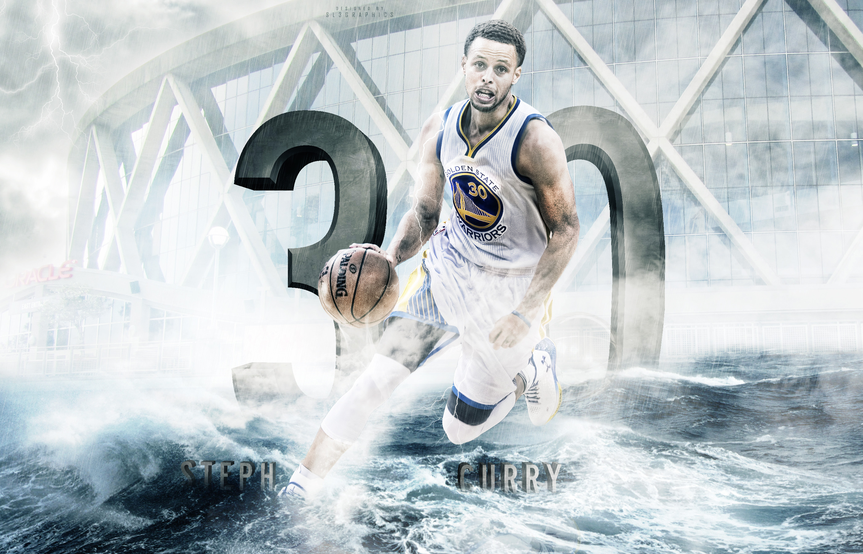 Wallpaper Water Stephen Curry