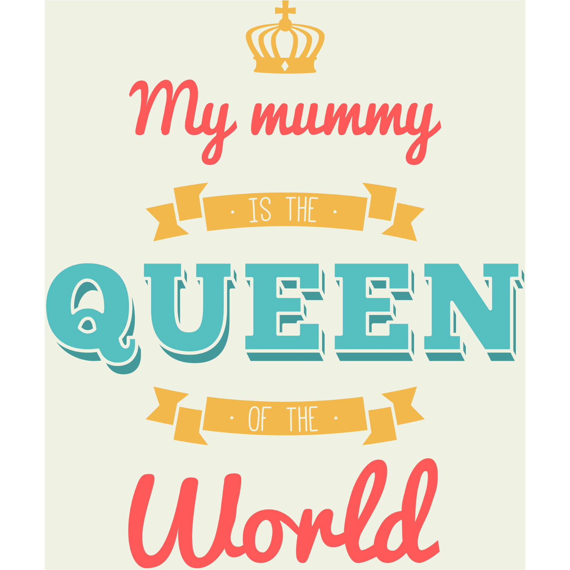 2000x2000 My Mom Is Queen Background Vector Happy Mother Day