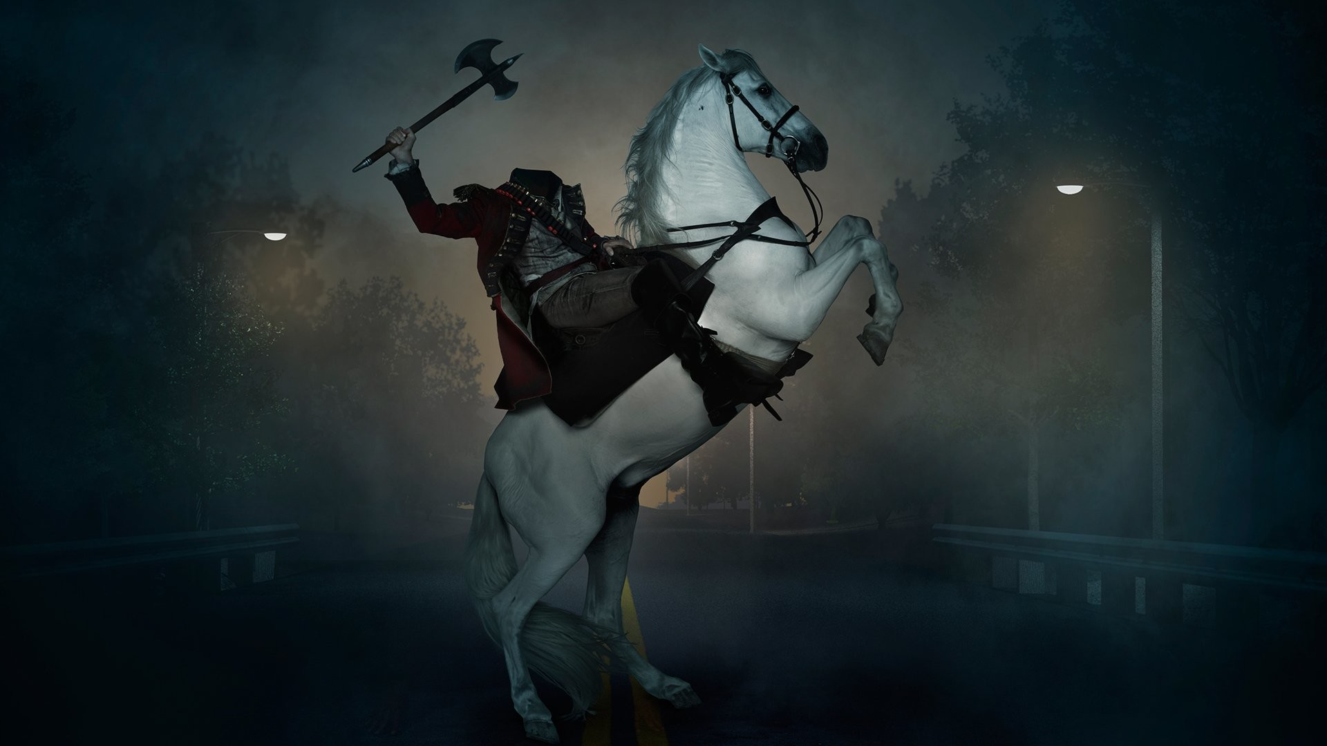 1920x1080 TV Show - Sleepy Hollow Headless Horseman Horse Dark Wallpaper