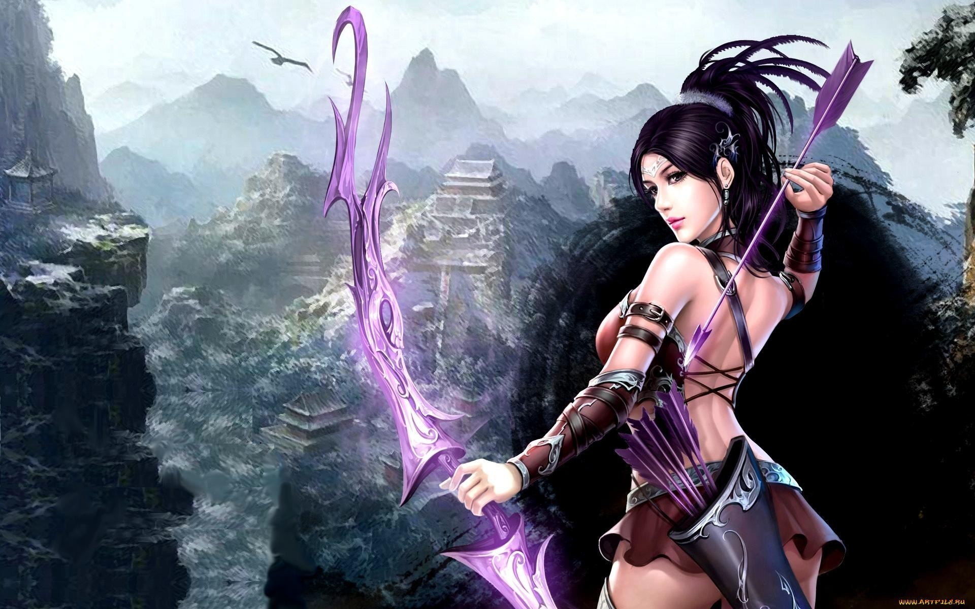 1920x1200 archer, Fantasy girl, Bow, Fantasy art Wallpapers HD / Desktop and Mobile  Backgrounds
