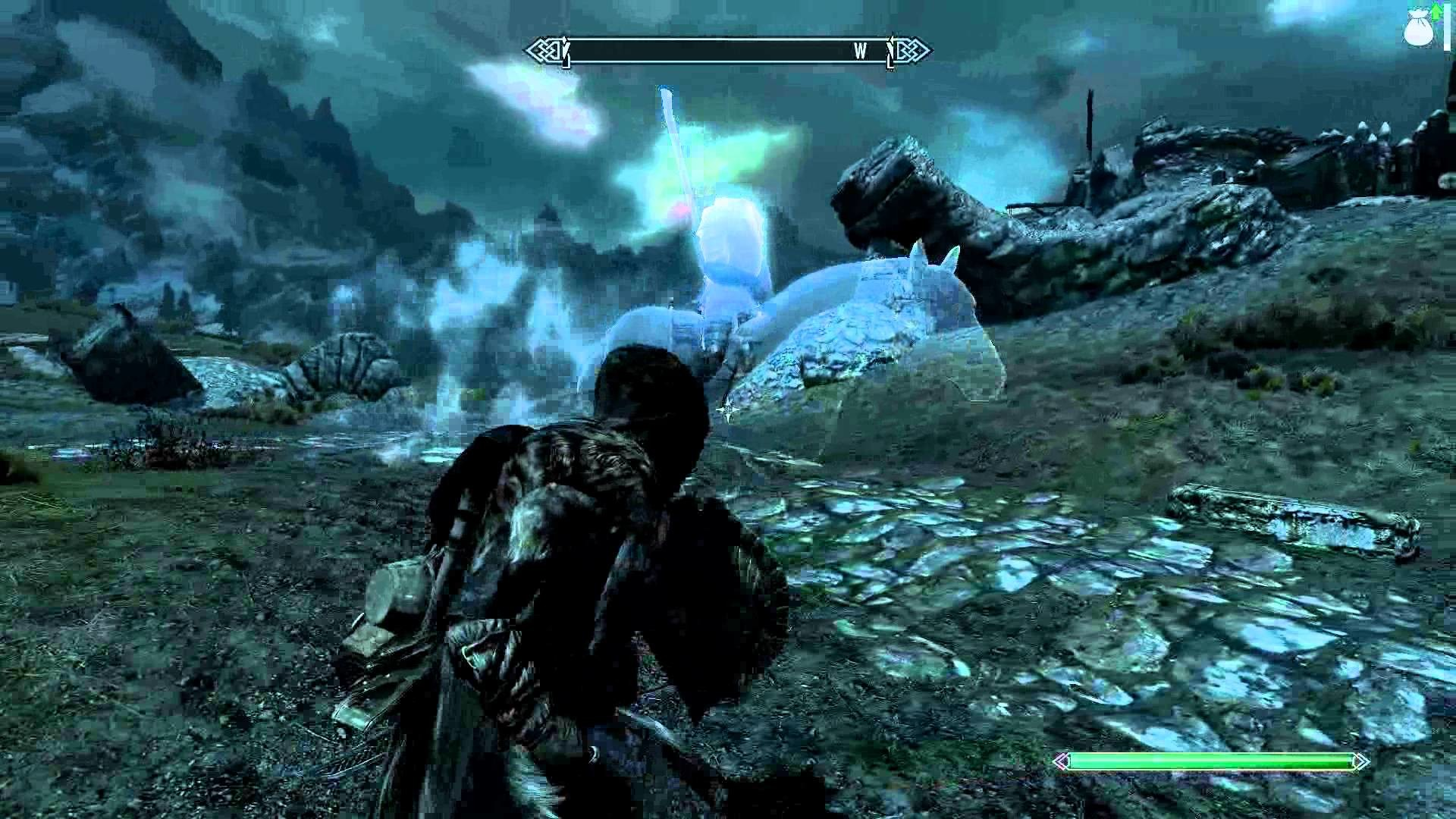 1920x1080 Skyrim - Headless Horseman gallops by