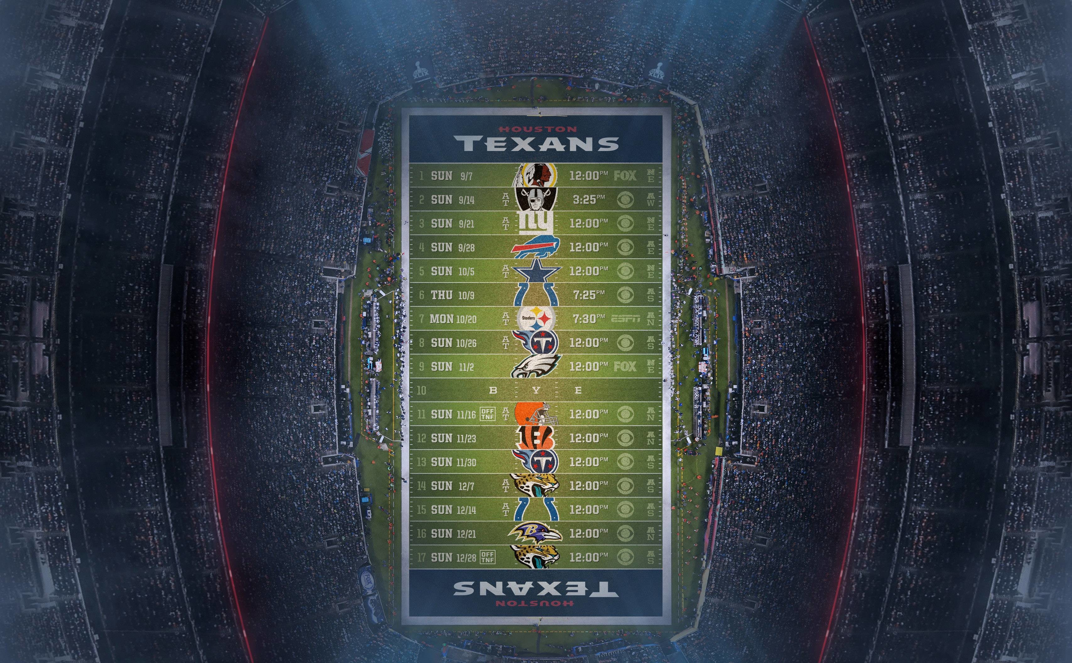 3414x2112 Houston Texans 2014 NFL Schedule Wallpaper Wide or HD | Sports .
