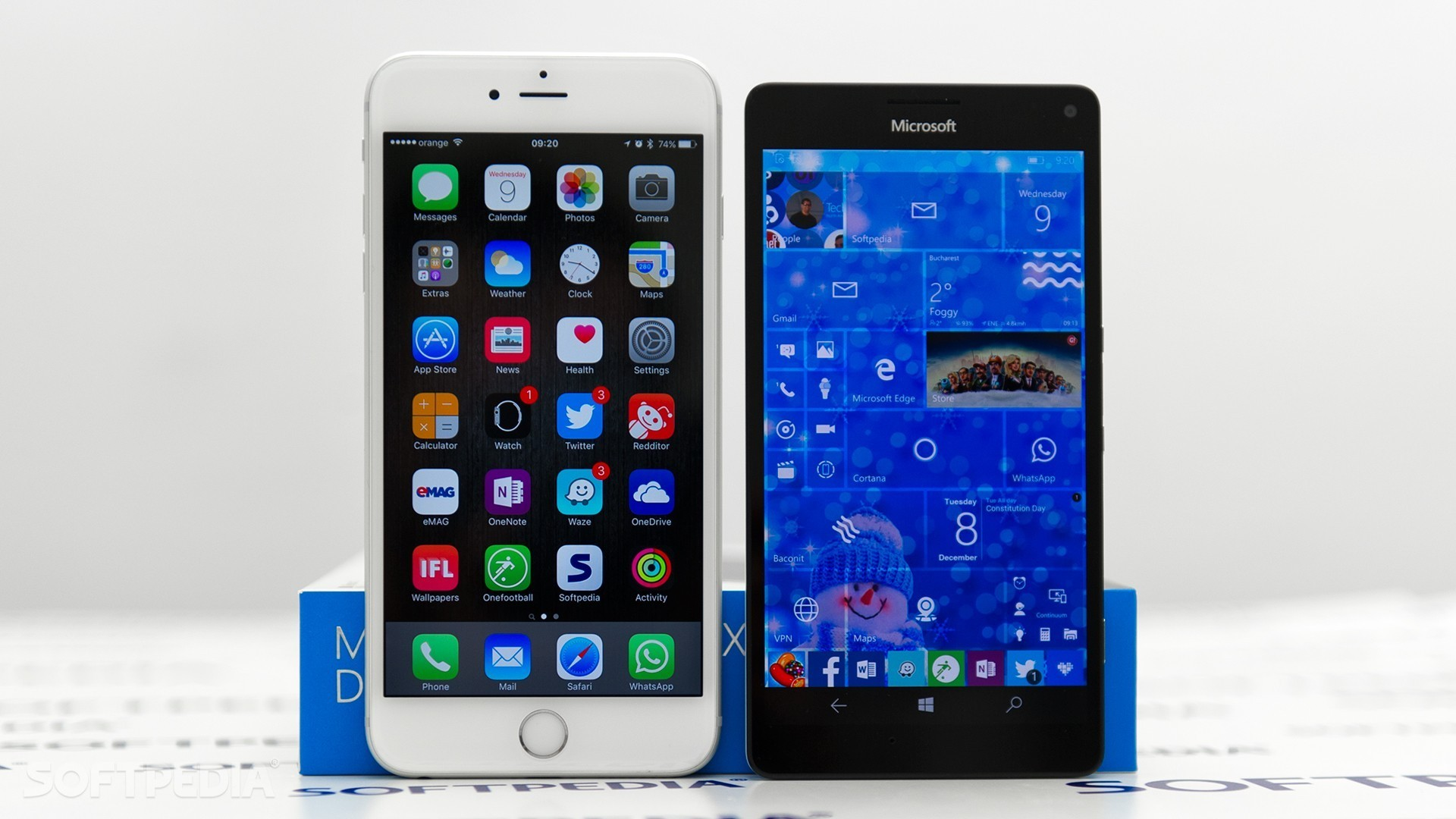 1920x1080 Apple's iPhone 6s Plus and the Lumia 950 XL ...
