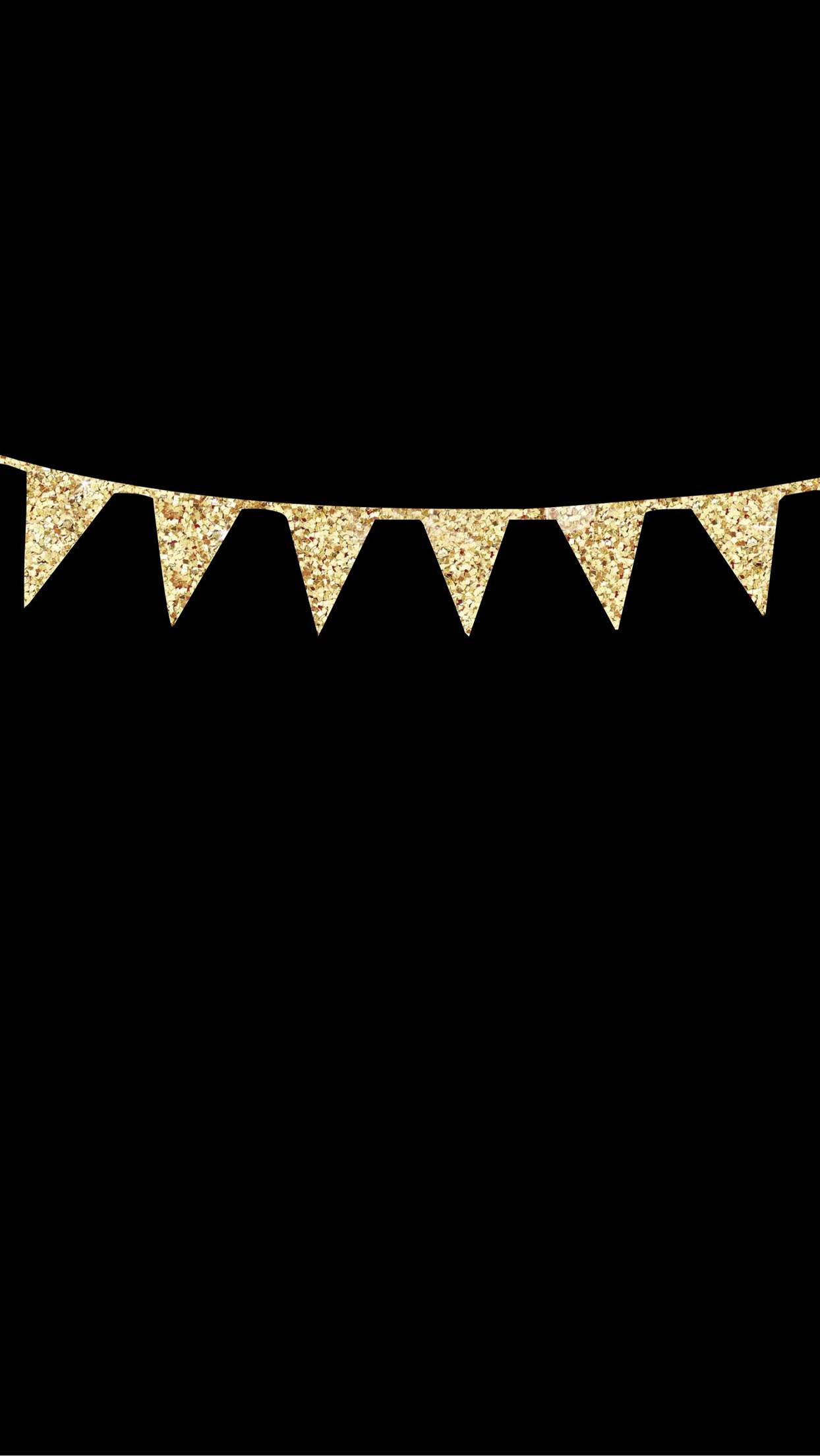 1244x2208 IPhone 6 Plus Lock Screen Wallpaper Black With Gold Glitter