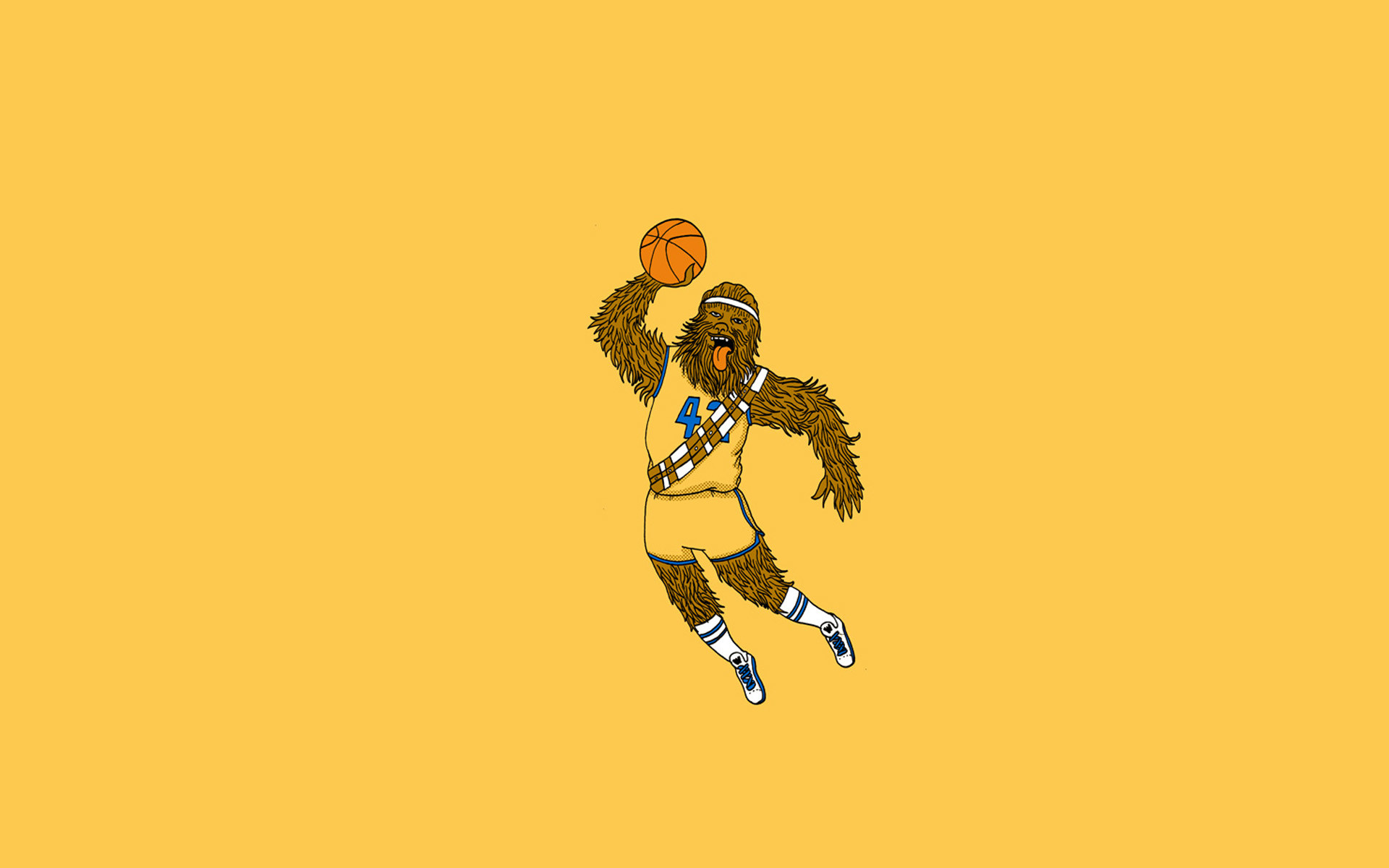 1920x1200 Chewbacca Basketball wallpaper