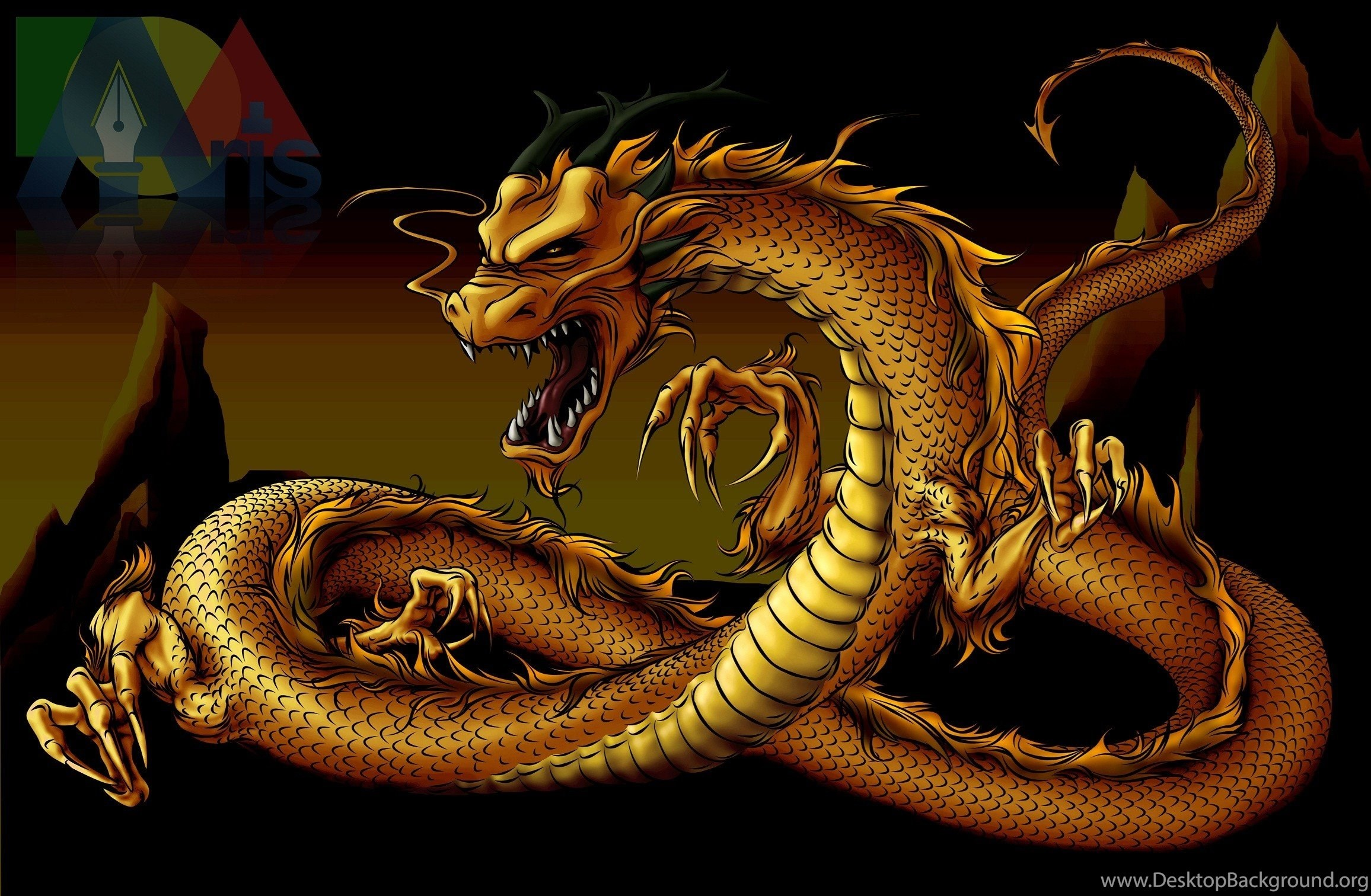 Red Tiger Or Gold Dragon